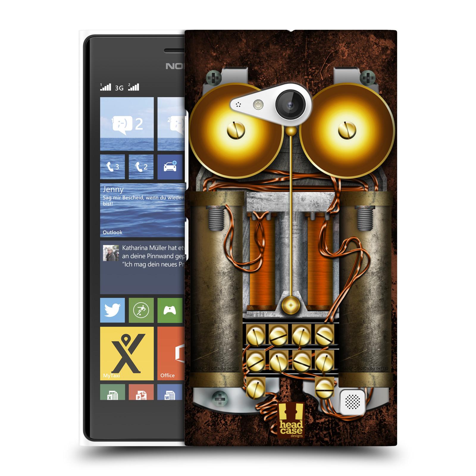 Plastové pouzdro na mobil Nokia Lumia 735 HEAD CASE STEAMPUNK TELEFON (Kryt či obal na mobilní telefon Nokia Lumia 735)