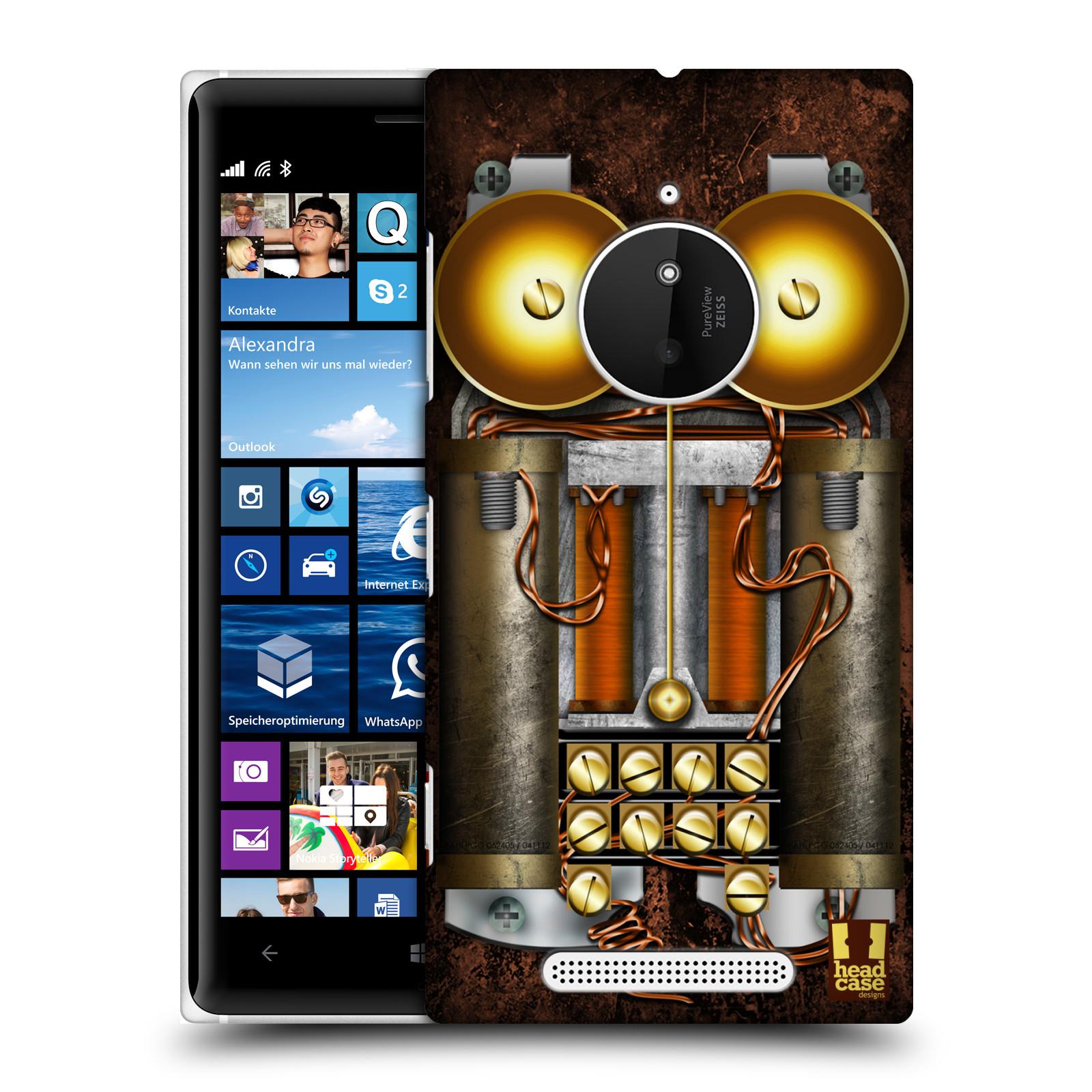 Plastové pouzdro na mobil Nokia Lumia 830 HEAD CASE STEAMPUNK TELEFON (Kryt či obal na mobilní telefon Nokia Lumia 830)