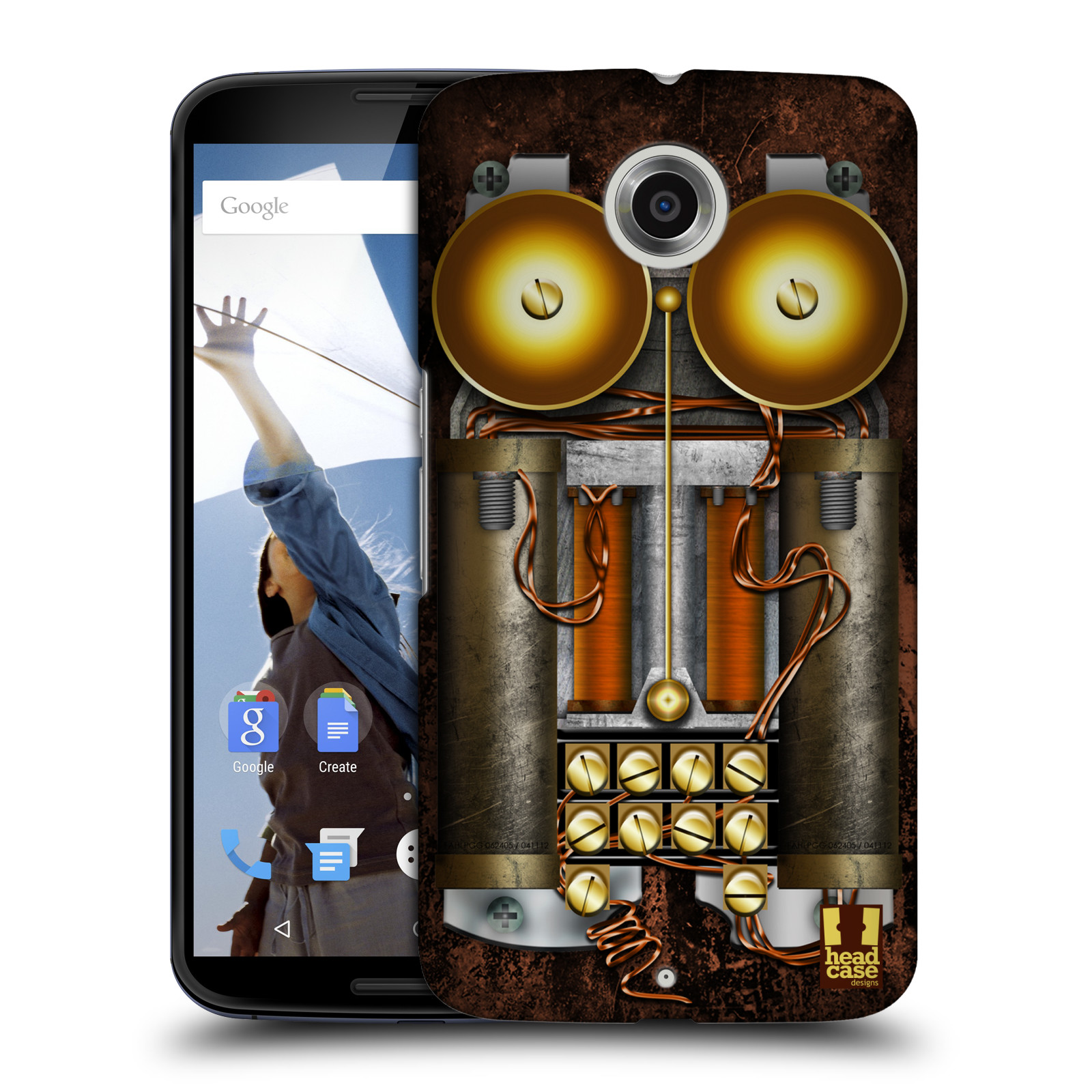 Plastové pouzdro na mobil Motorola Nexus 6 HEAD CASE STEAMPUNK TELEFON (Kryt či obal na mobilní telefon Motorola Nexus 6)