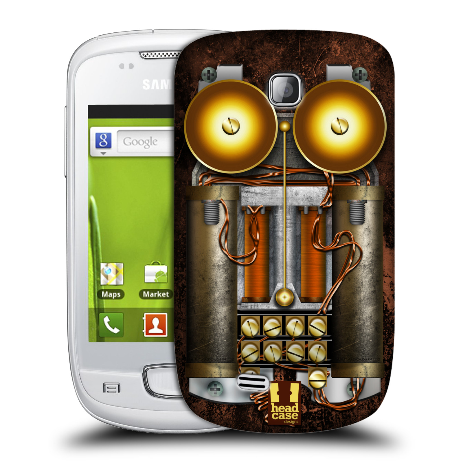 Plastové pouzdro na mobil Samsung Galaxy Mini HEAD CASE STEAMPUNK TELEFON (Kryt či obal na mobilní telefon Samsung Galaxy Mini GT-S5570 / GT-S5570i)