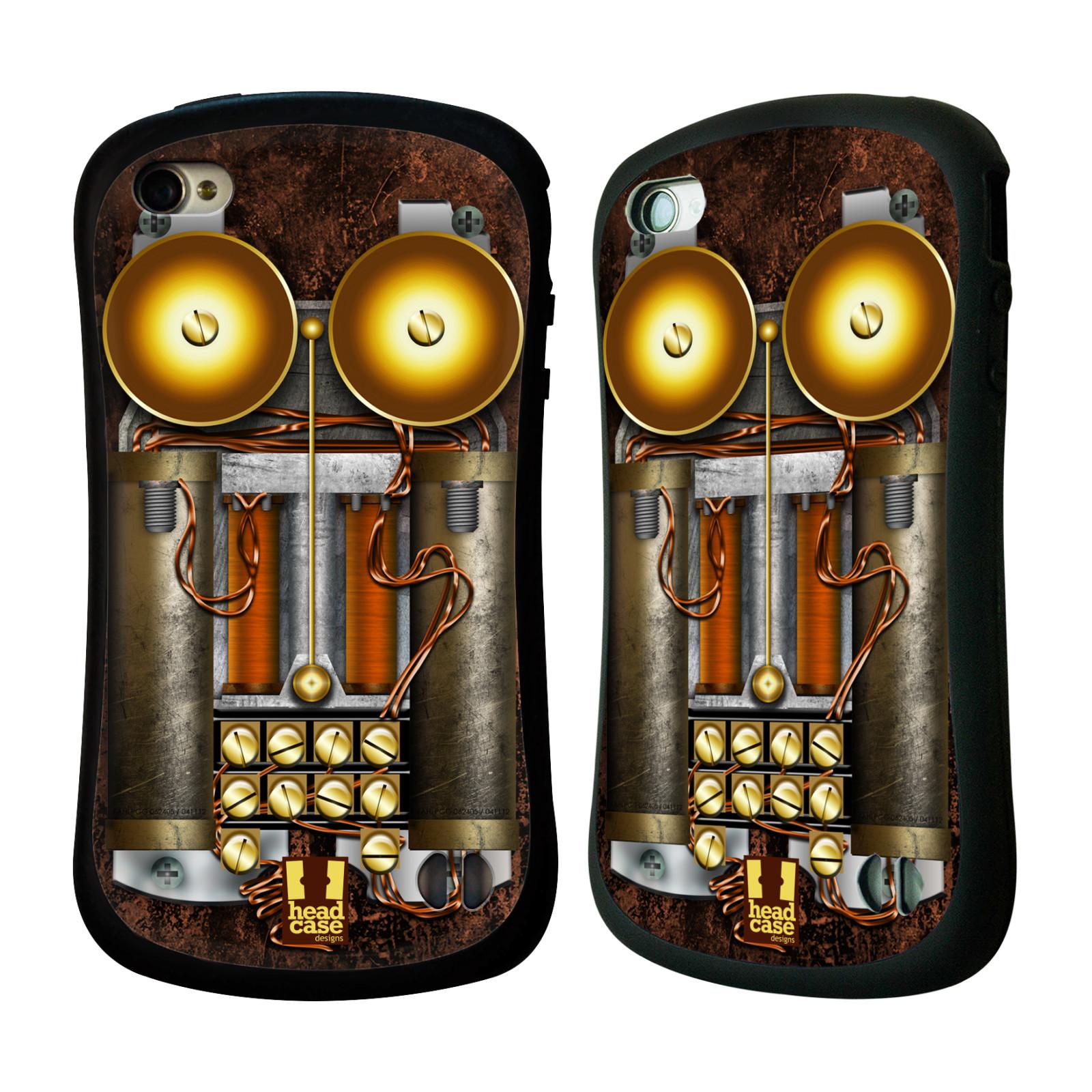 Nárazuvzdorné pouzdro na mobil Apple iPhone 4 a 4S HEAD CASE STEAMPUNK TELEFON (Odolný nárazuvzdorný silikonový kryt či obal na mobilní telefon Apple iPhone 4 a 4S)