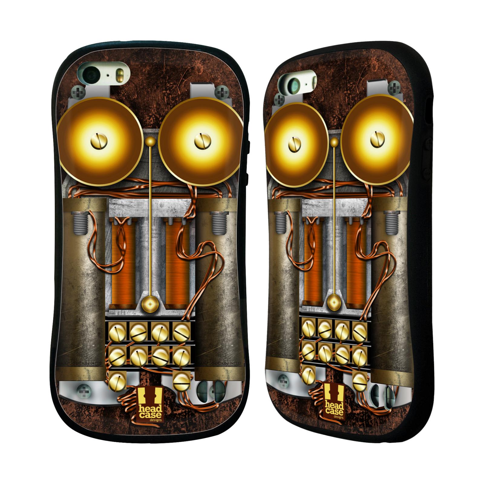 Nárazuvzdorné pouzdro na mobil Apple iPhone SE, 5 a 5S HEAD CASE STEAMPUNK TELEFON (Odolný nárazuvzdorný silikonový kryt či obal na mobilní telefon Apple iPhone SE, 5 a 5S)