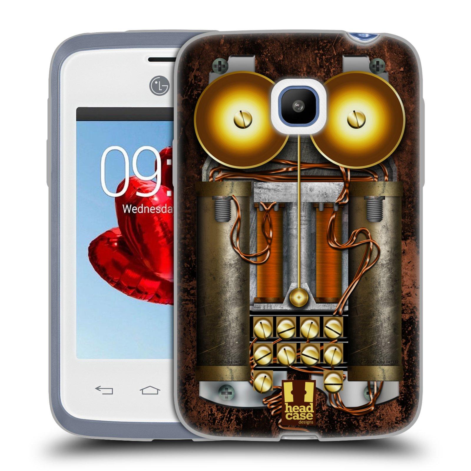 Silikonové pouzdro na mobil LG L20 HEAD CASE STEAMPUNK TELEFON (Silikonový kryt či obal na mobilní telefon LG L20 D107)