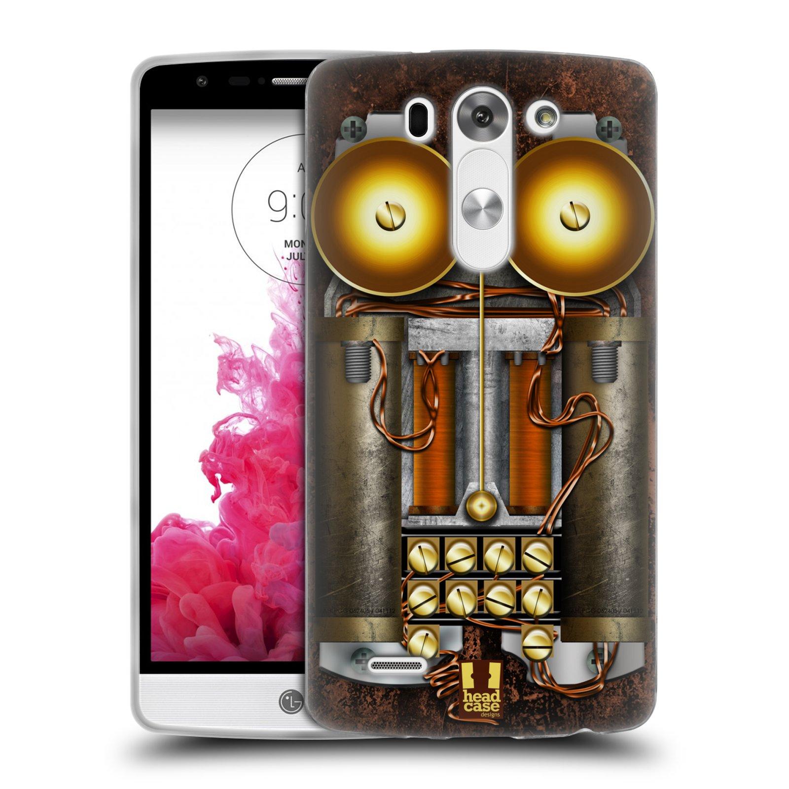 Silikonové pouzdro na mobil LG G3s HEAD CASE STEAMPUNK TELEFON (Silikonový kryt či obal na mobilní telefon LG G3s D722)