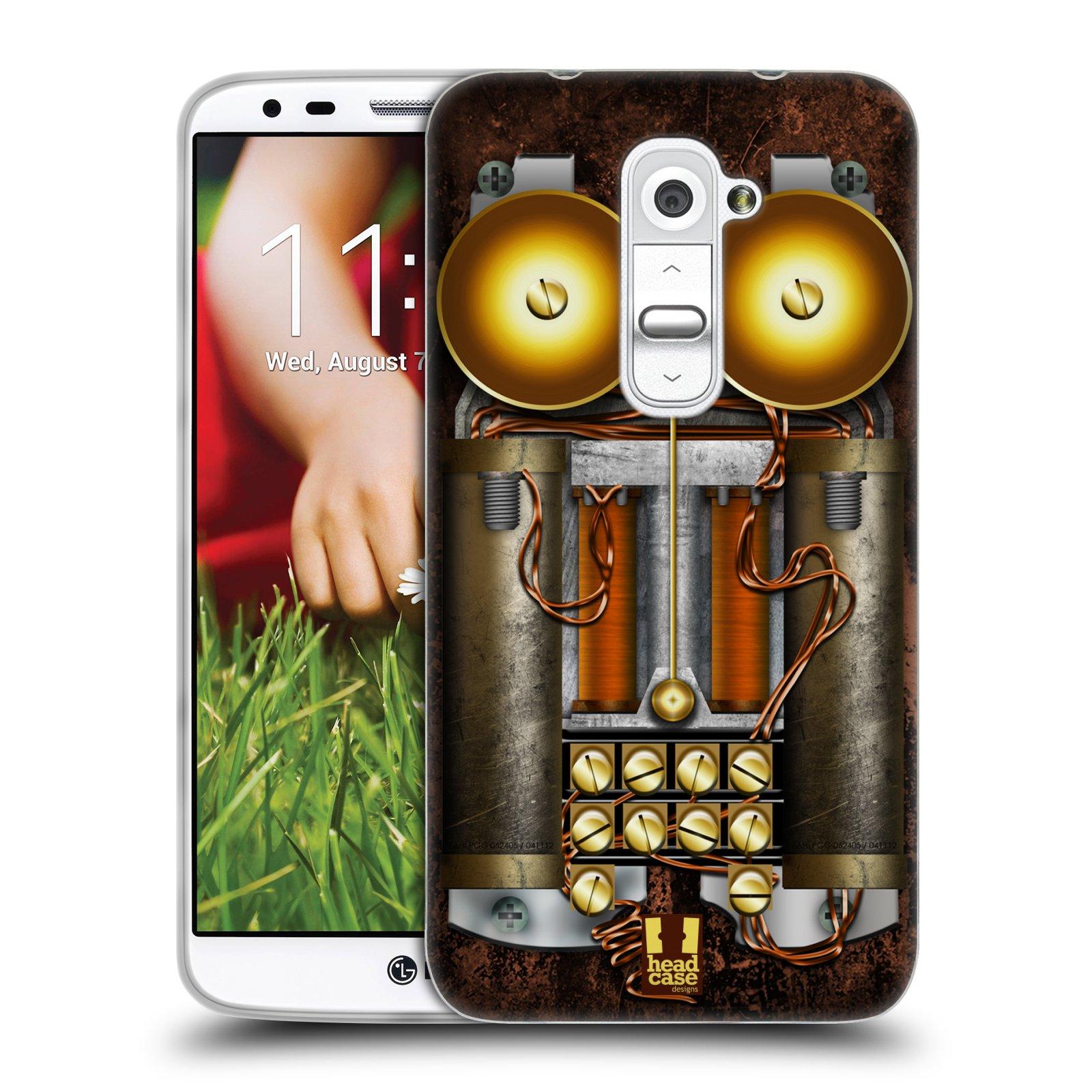 Silikonové pouzdro na mobil LG G2 HEAD CASE STEAMPUNK TELEFON (Silikonový kryt či obal na mobilní telefon LG G2 D802)