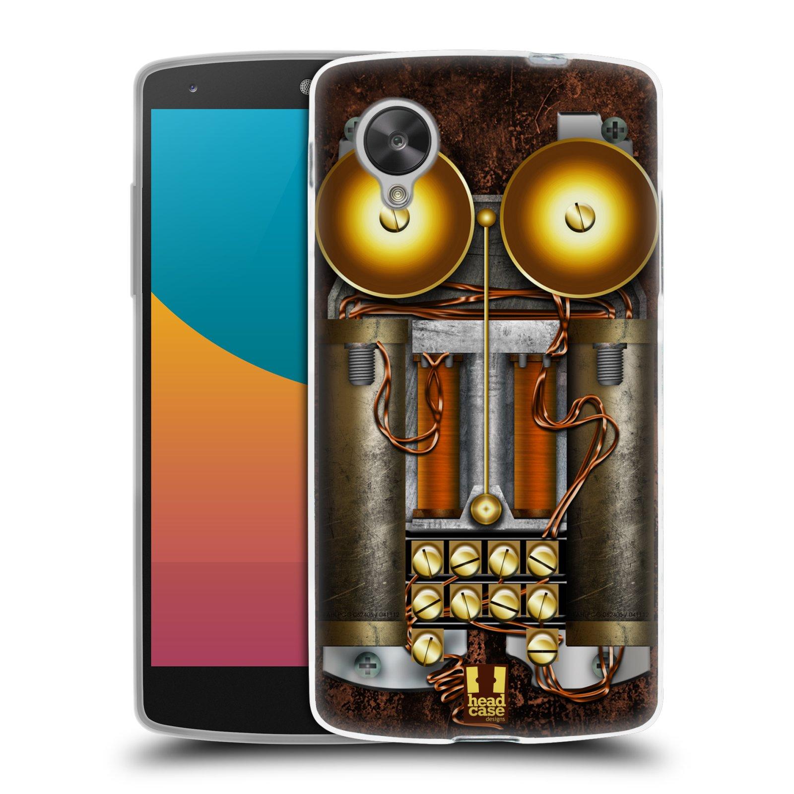 Silikonové pouzdro na mobil LG Nexus 5 HEAD CASE STEAMPUNK TELEFON (Silikonový kryt či obal na mobilní telefon LG Google Nexus 5 D821)