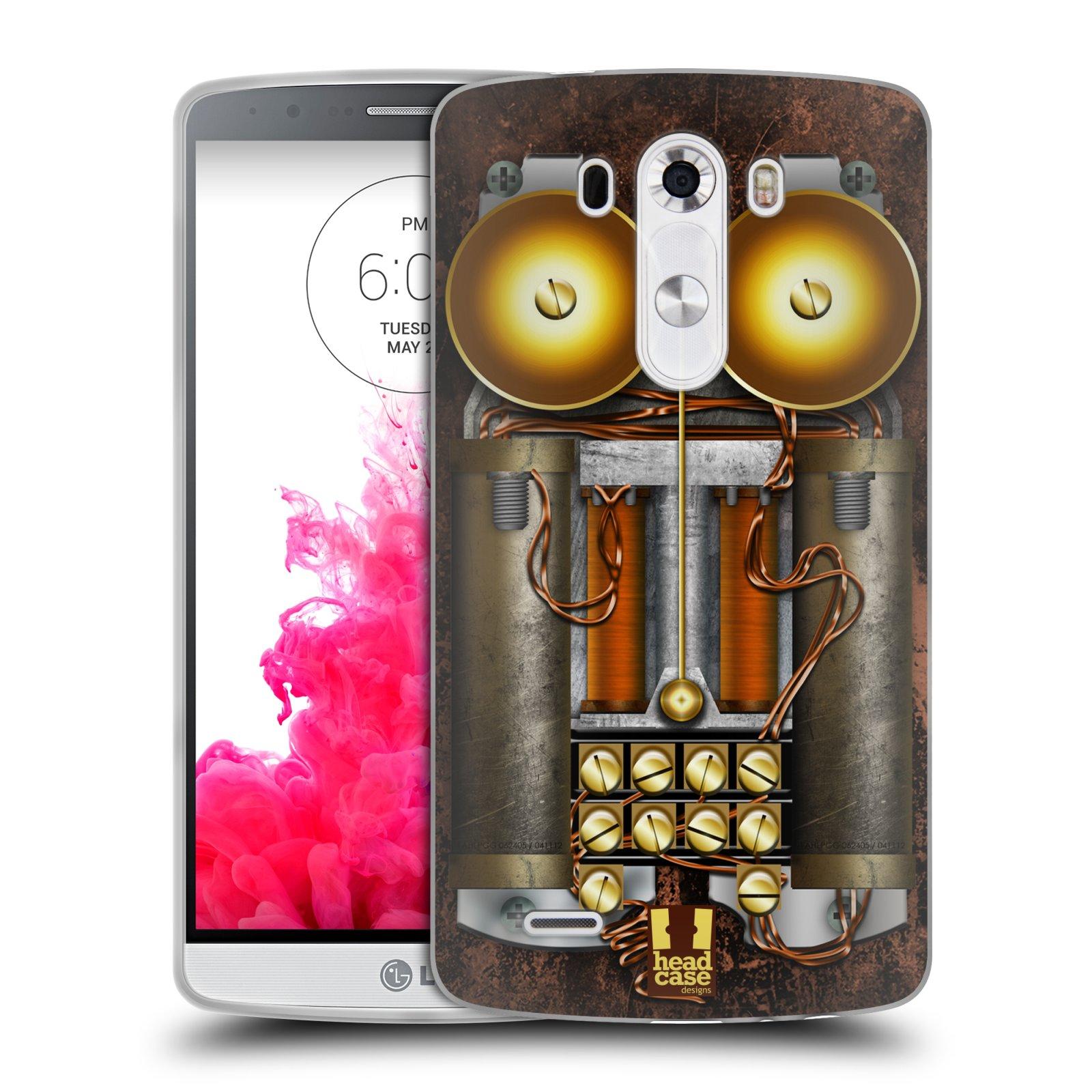 Silikonové pouzdro na mobil LG G3 HEAD CASE STEAMPUNK TELEFON (Silikonový kryt či obal na mobilní telefon LG G3 D855)