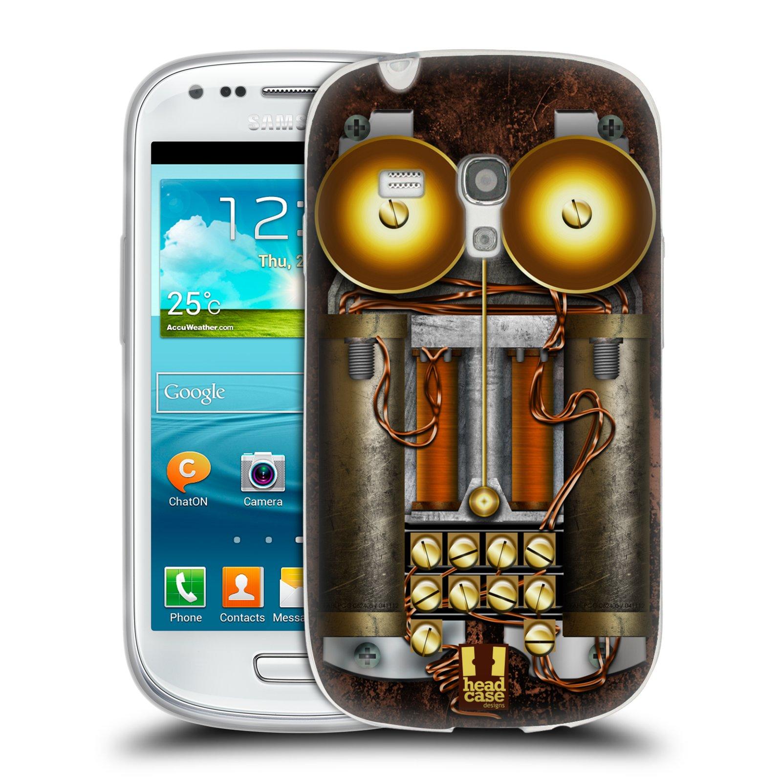 Silikonové pouzdro na mobil Samsung Galaxy S III Mini HEAD CASE STEAMPUNK TELEFON (Silikonový kryt či obal na mobilní telefon Samsung Galaxy S III Mini GT-i8190)