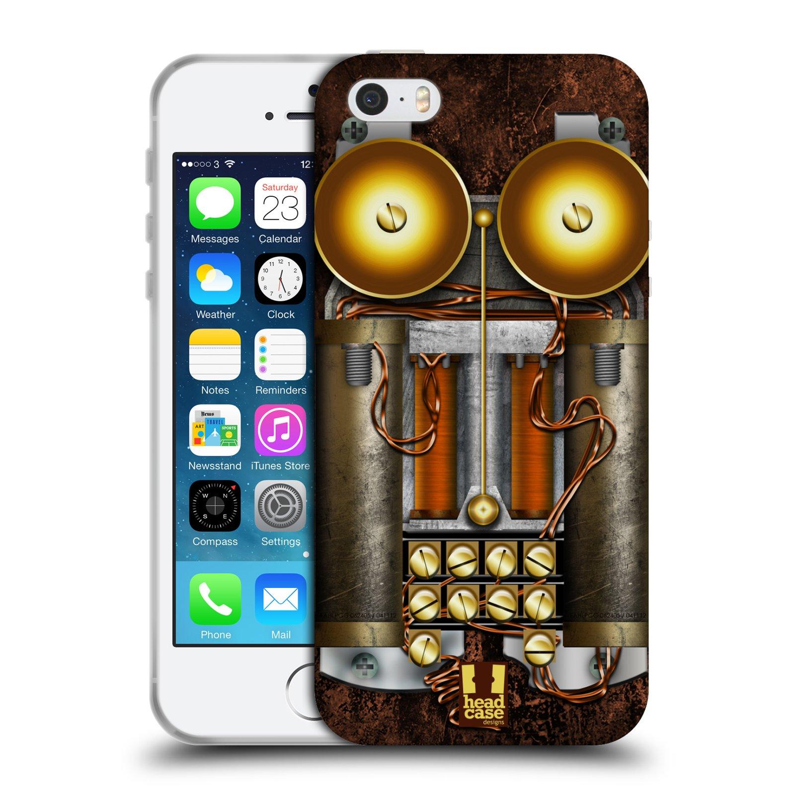 Silikonové pouzdro na mobil Apple iPhone SE, 5 a 5S HEAD CASE STEAMPUNK TELEFON (Silikonový kryt či obal na mobilní telefon Apple iPhone SE, 5 a 5S)