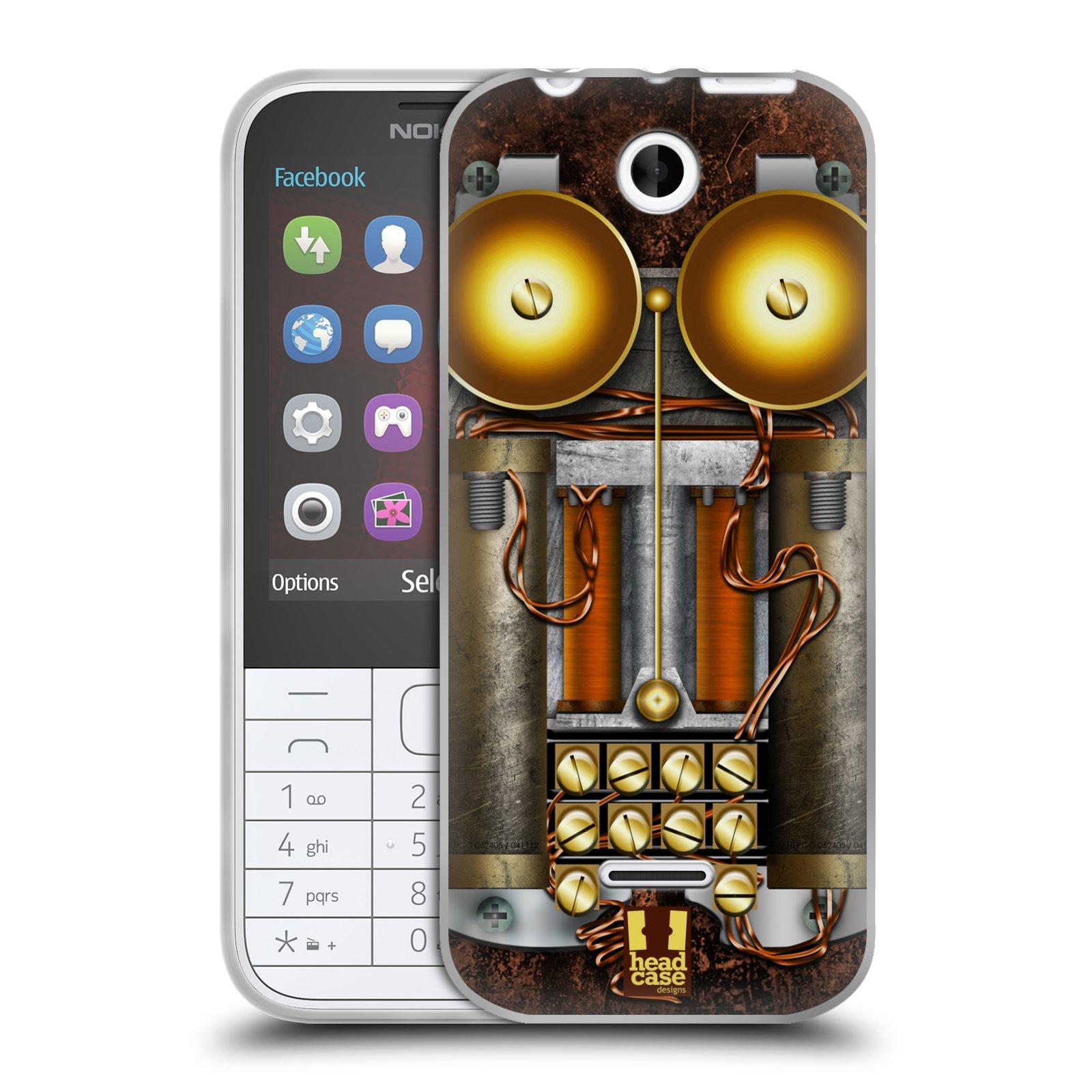Silikonové pouzdro na mobil Nokia 225 HEAD CASE STEAMPUNK TELEFON (Silikonový kryt či obal na mobilní telefon Nokia 225)