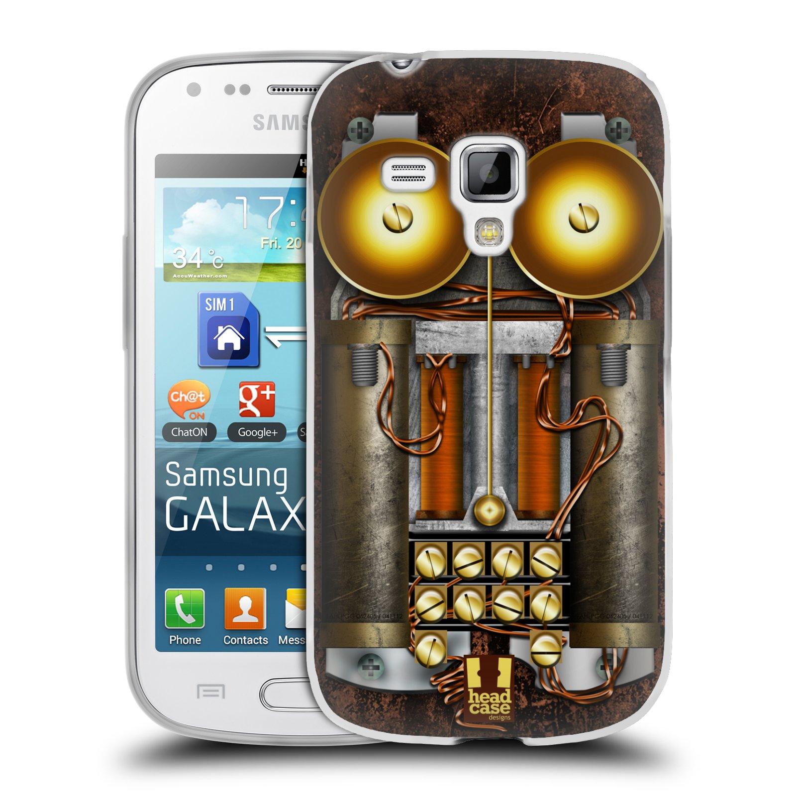 Silikonové pouzdro na mobil Samsung Galaxy S Duos HEAD CASE STEAMPUNK TELEFON (Silikonový kryt či obal na mobilní telefon Samsung Galaxy S Duos GT-S7562)