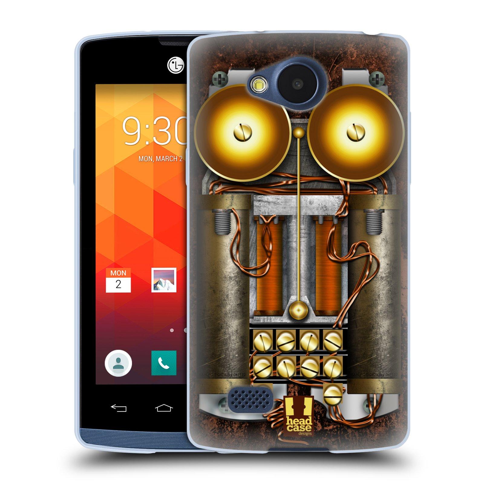 Silikonové pouzdro na mobil LG Joy HEAD CASE STEAMPUNK TELEFON (Silikonový kryt či obal na mobilní telefon LG Joy H220)