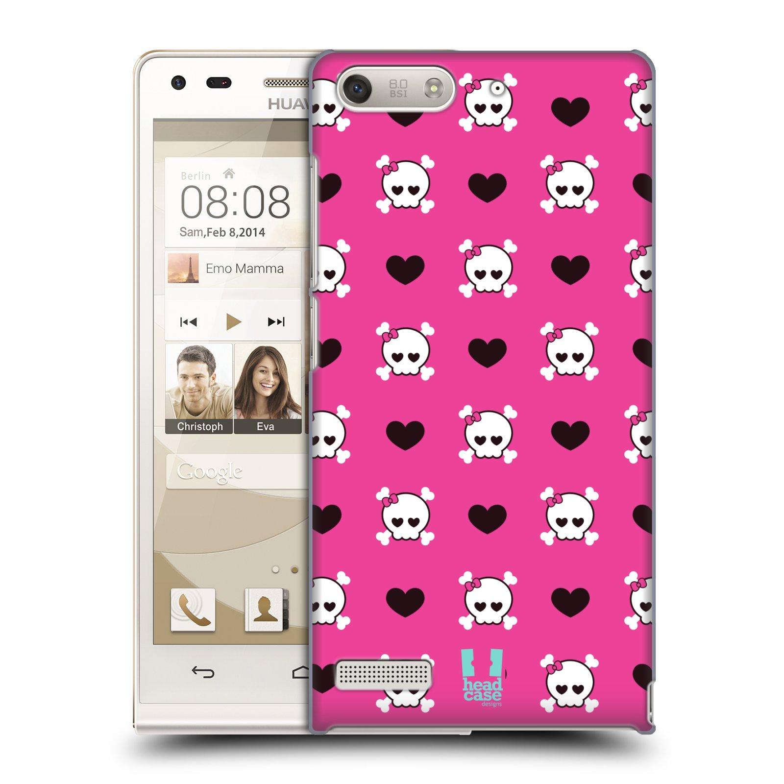 Plastové pouzdro na mobil Huawei Ascend G6 HEAD CASE LEBKY A SRDÍČKA (Kryt či obal na mobilní telefon Huawei Ascend G6 bez LTE)