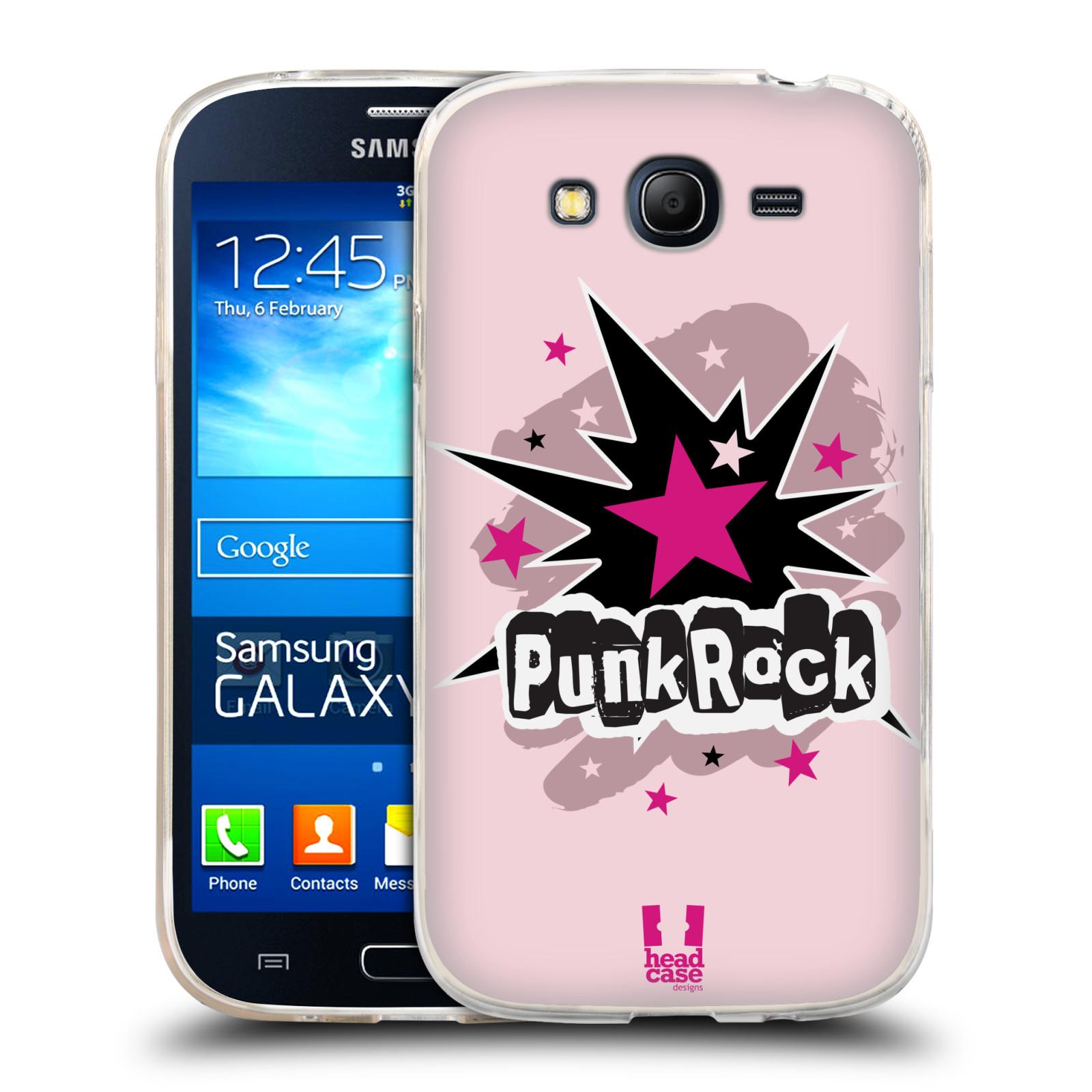 Silikonové pouzdro na mobil Samsung Galaxy Grand Neo Plus HEAD CASE PUNK ROCK