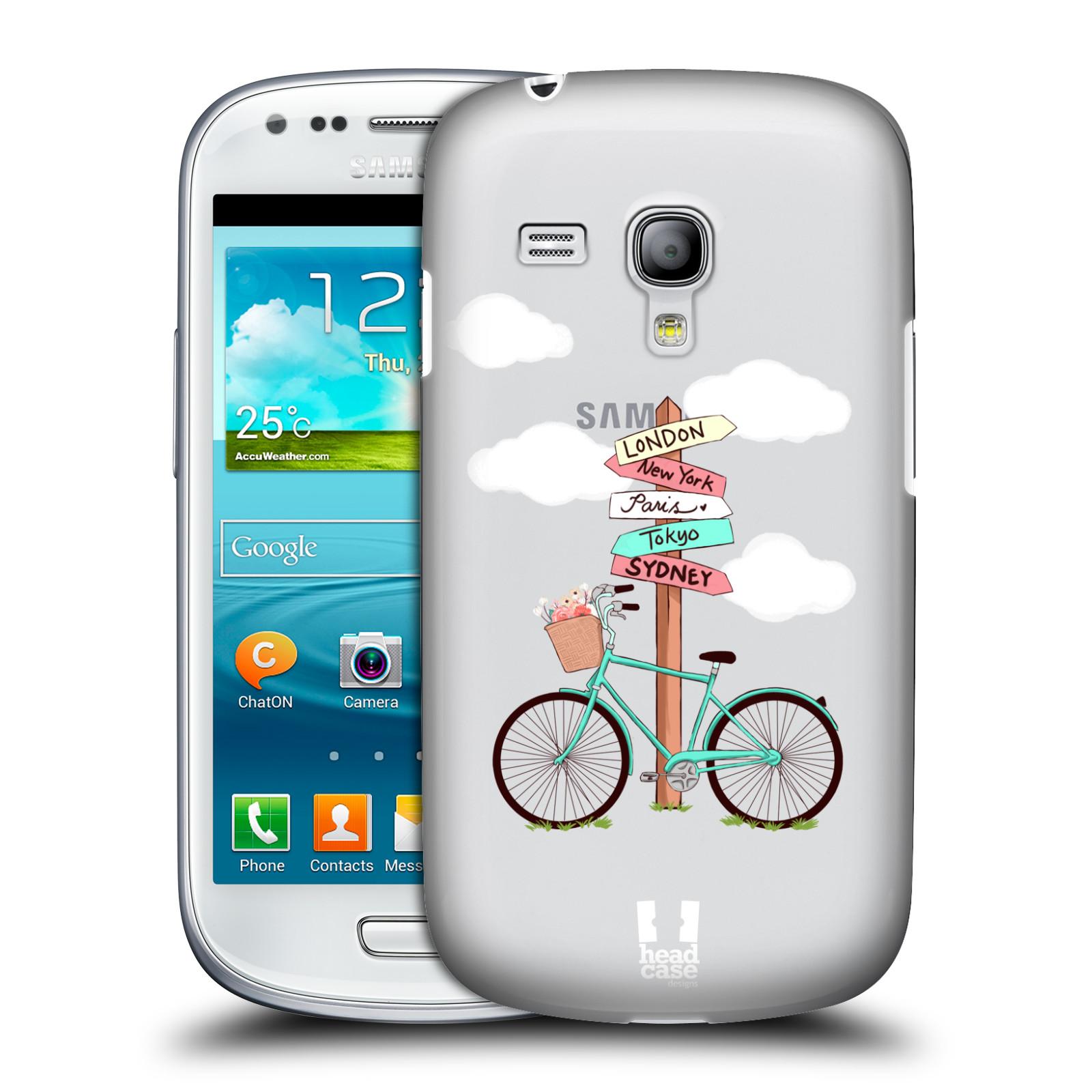 Silikonové pouzdro na mobil Samsung Galaxy S III Mini VE Head Case - Rozcestník s kolem (Plastový kryt či obal na mobilní telefon s motivem kola pro Samsung Galaxy S3 Mini VE GT-i8200)