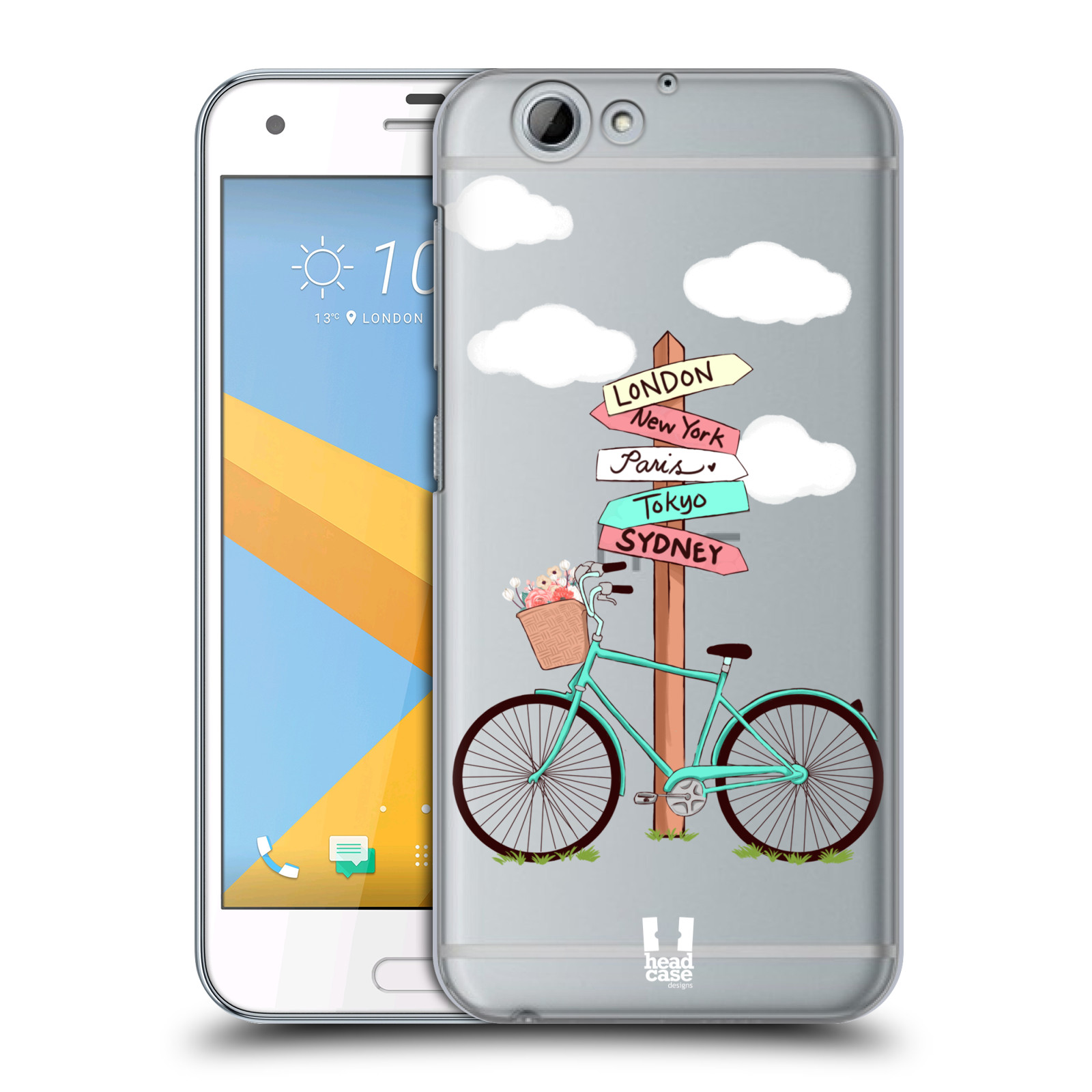 Plastové pouzdro na mobil HTC One A9s Head Case - Rozcestník s kolem (Plastový kryt či obal na mobilní telefon s motivem kola pro HTC One A9s (A9 s))