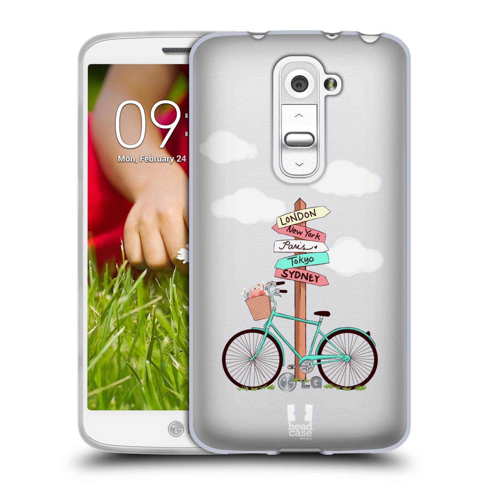 Silikonové pouzdro na mobil LG G2 Mini Head Case - Rozcestník s kolem (Silikonový kryt či obal na mobilní telefon s motivem kola pro LG G2 Mini D620)