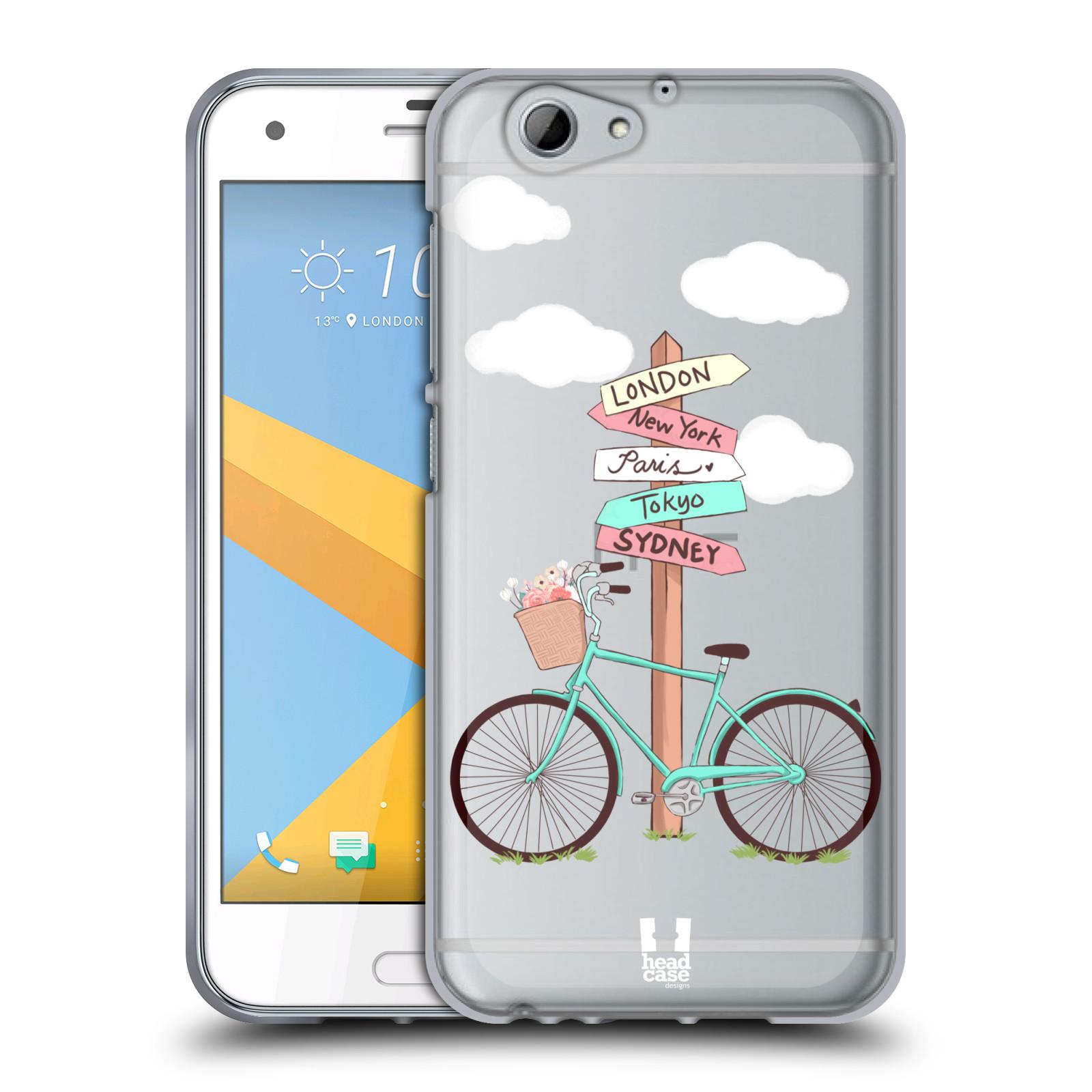 Silikonové pouzdro na mobil HTC One A9s Head Case - Rozcestník s kolem (Silikonový kryt či obal na mobilní telefon s motivem kola pro HTC One A9s (A9 s))
