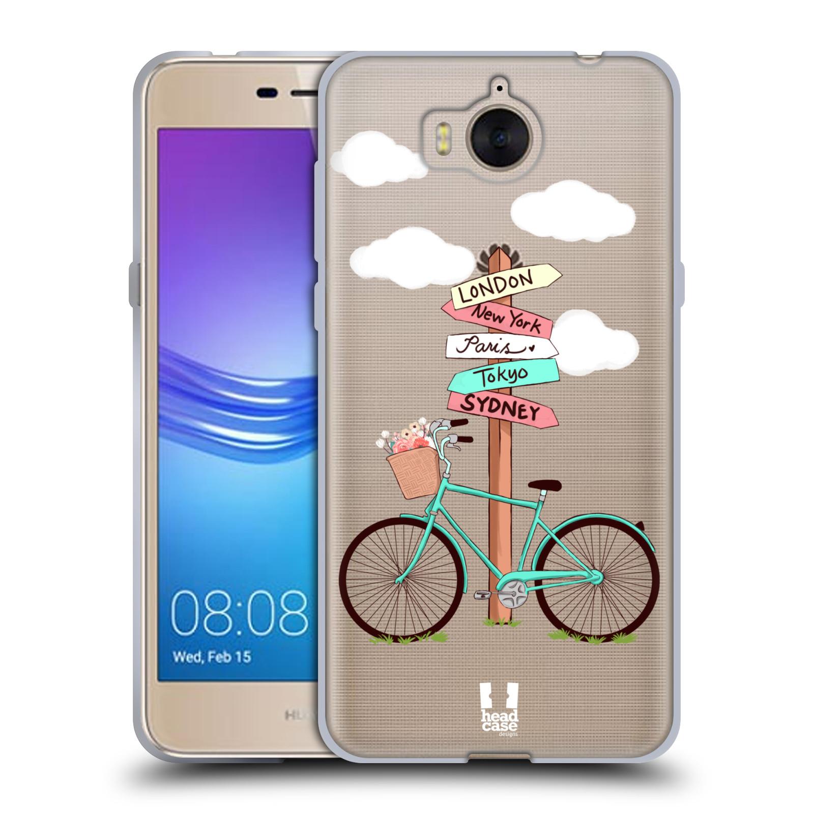 Silikonové pouzdro na mobil Huawei Y6 2017 - Head Case - Rozcestník s kolem