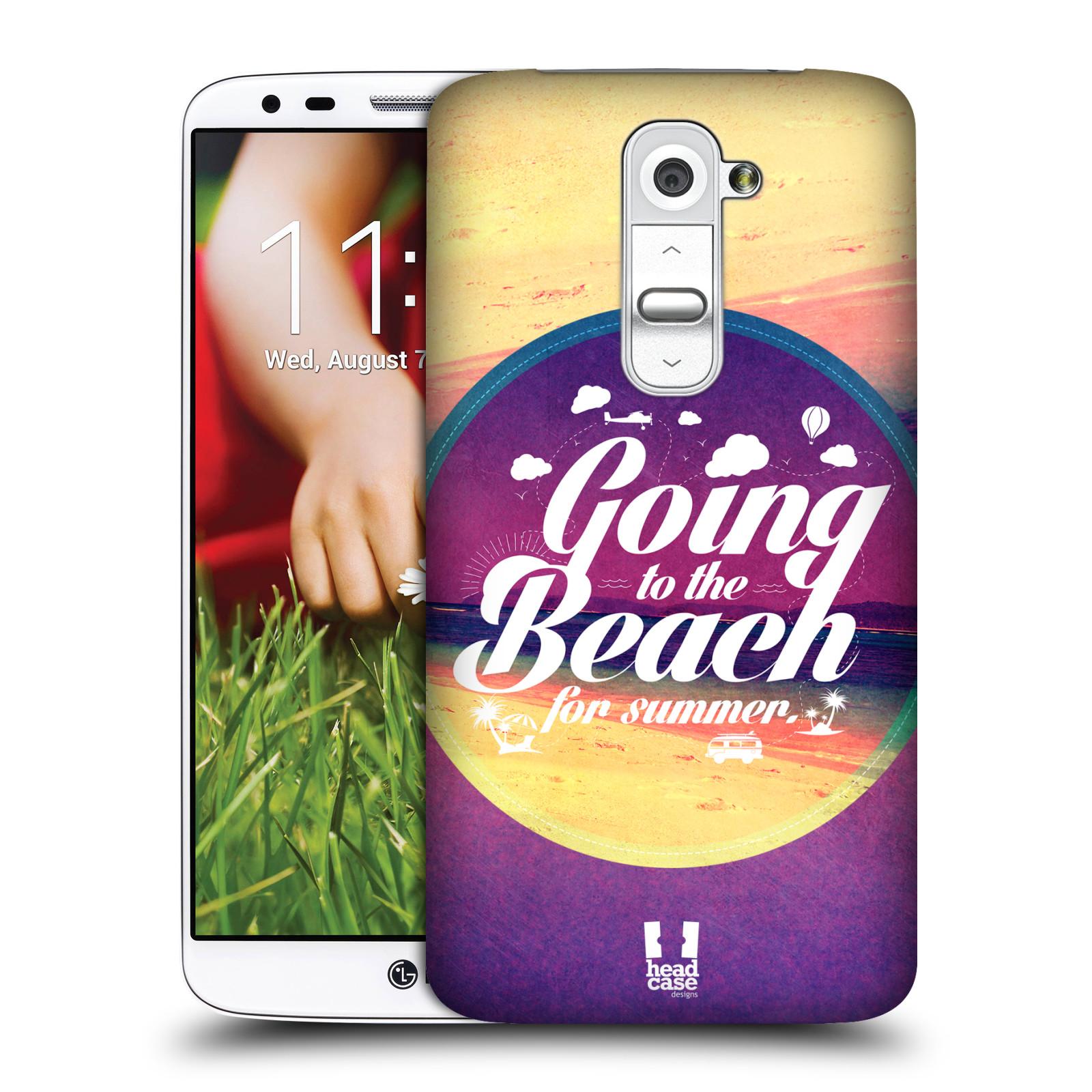 Plastové pouzdro na mobil LG G2 HEAD CASE Léto na pláži (Kryt či obal na mobilní telefon LG G2 D802)