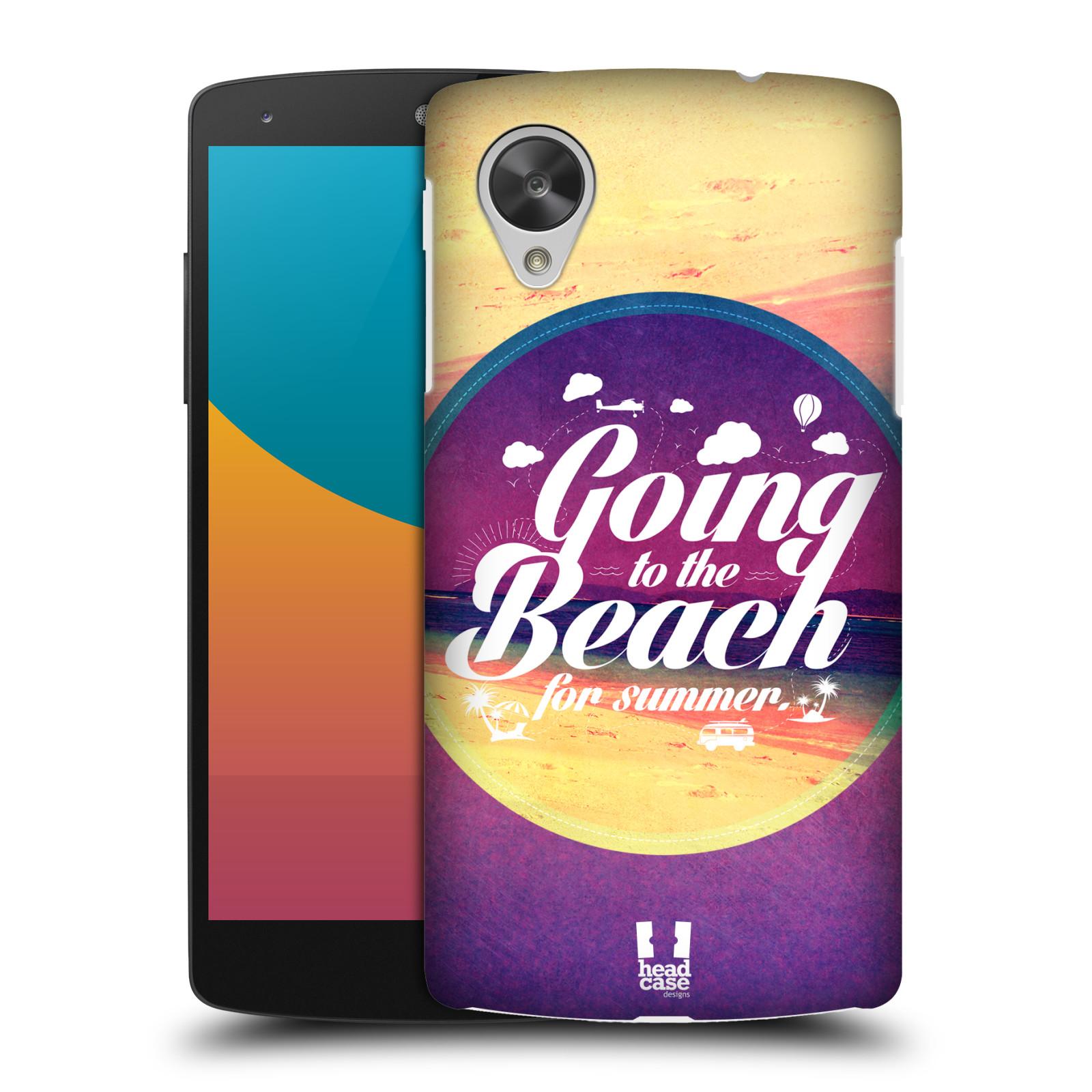 Plastové pouzdro na mobil LG Nexus 5 HEAD CASE Léto na pláži (Kryt či obal na mobilní telefon LG Google Nexus 5 D821)