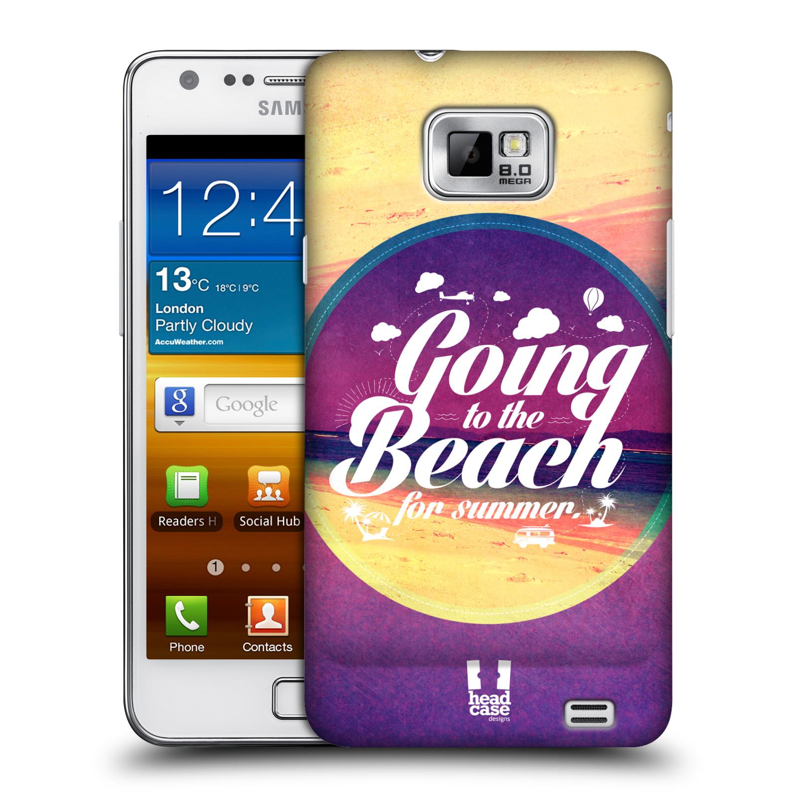 Plastové pouzdro na mobil Samsung Galaxy S II HEAD CASE Léto na pláži (Kryt či obal na mobilní telefon Samsung Galaxy S II GT-i9100)
