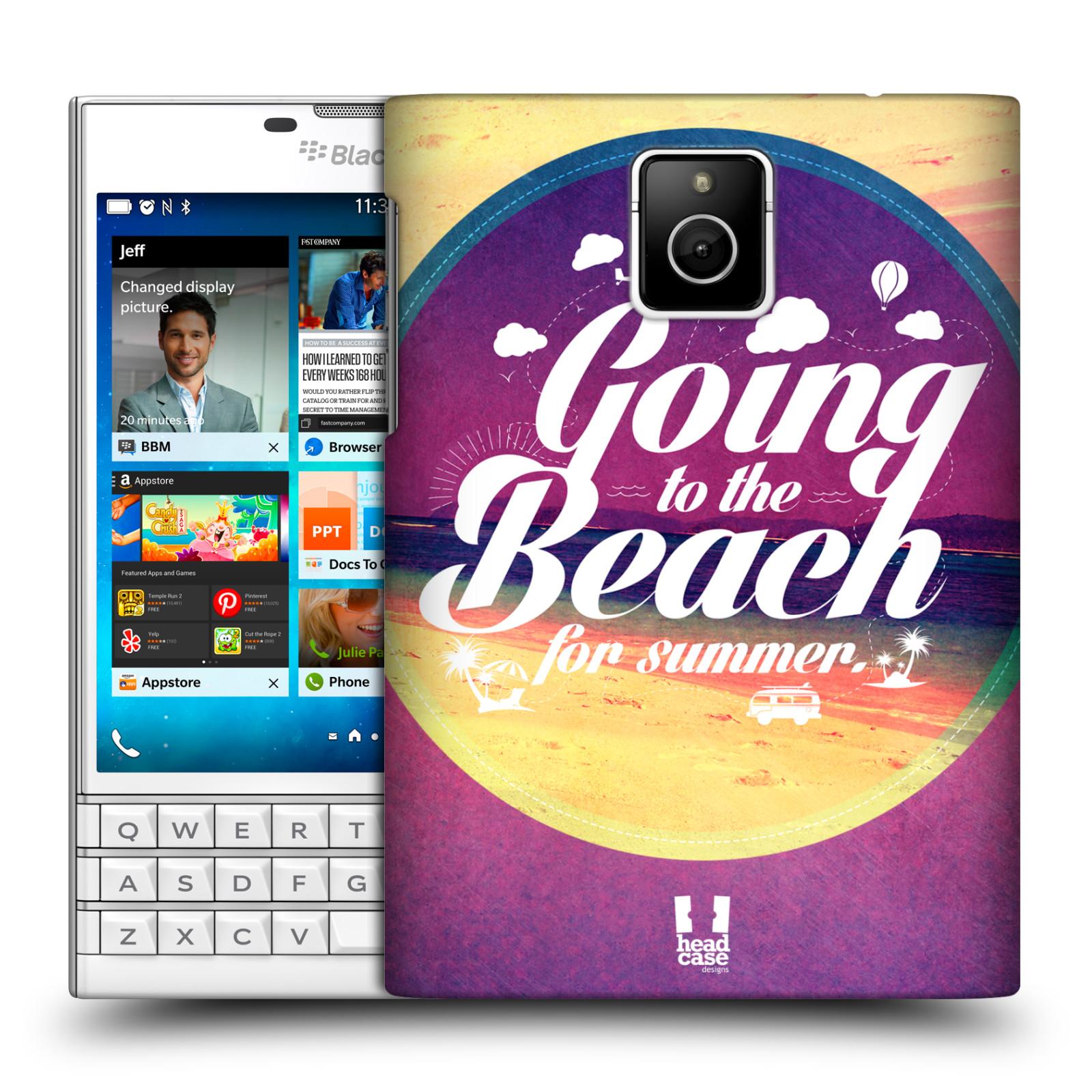 Plastové pouzdro na mobil Blackberry PASSPORT HEAD CASE Léto na pláži (Kryt či obal na mobilní telefon Blackberry PASSPORT)