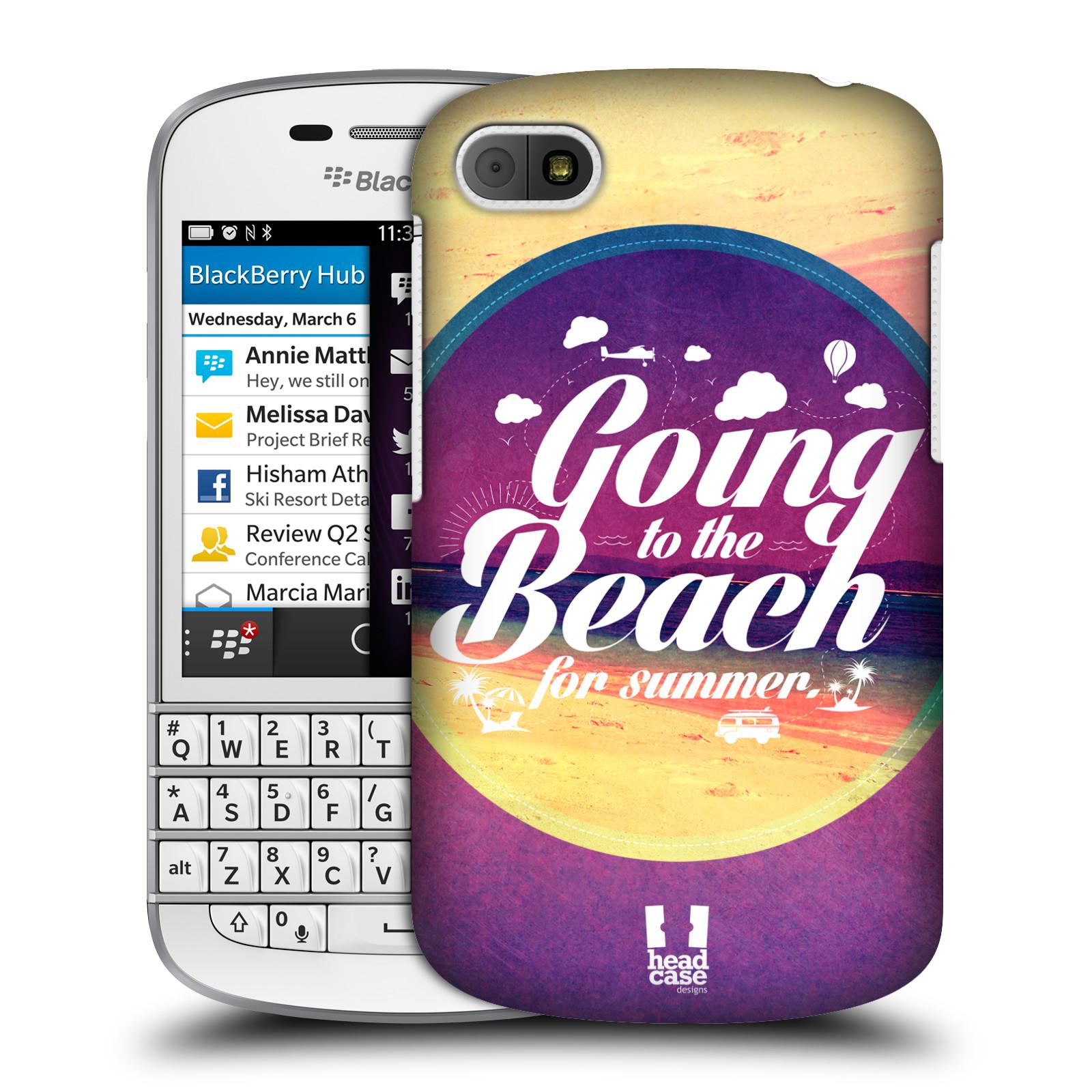 Plastové pouzdro na mobil Blackberry Q10 HEAD CASE Léto na pláži (Kryt či obal na mobilní telefon Blackberry Q10)