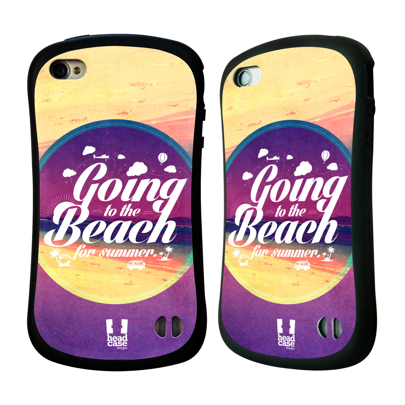 Nárazuvzdorné pouzdro na mobil Apple iPhone 4 a 4S HEAD CASE Léto na pláži (Odolný nárazuvzdorný silikonový kryt či obal na mobilní telefon Apple iPhone 4 a 4S)