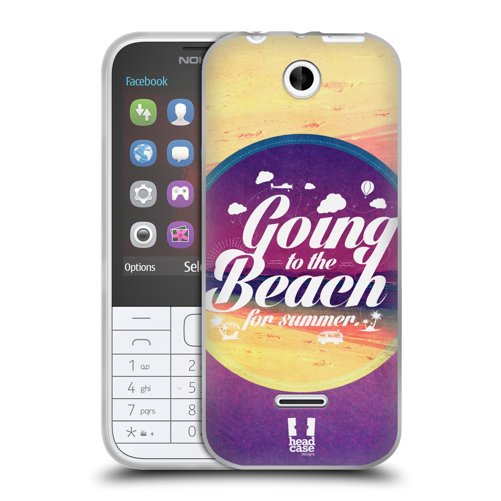 Silikonové pouzdro na mobil Nokia 225 HEAD CASE Léto na pláži (Silikonový kryt či obal na mobilní telefon Nokia 225)