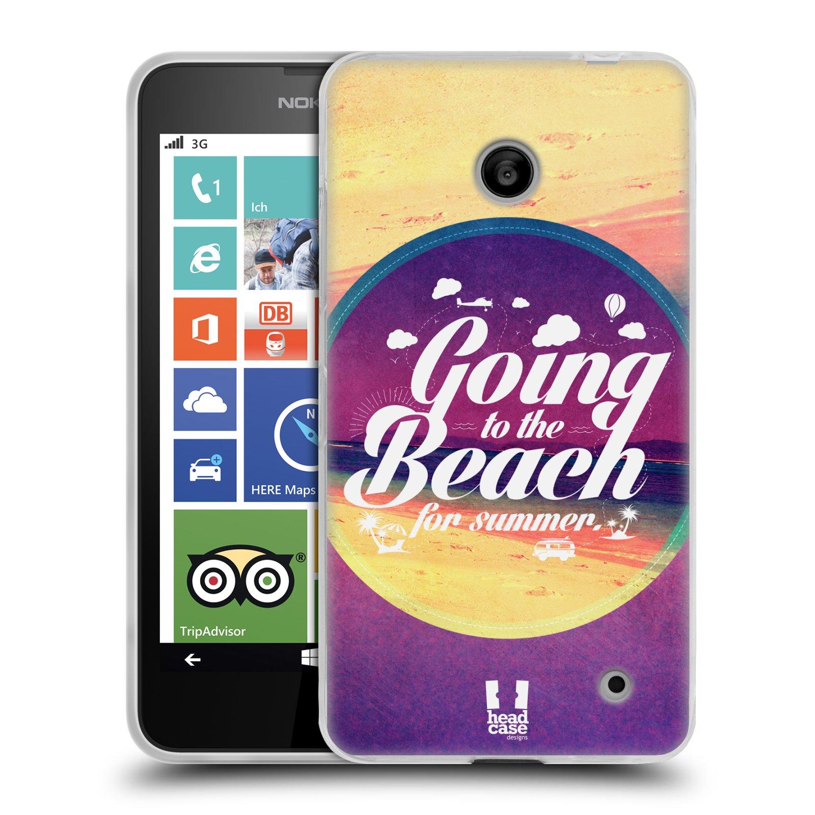 Silikonové pouzdro na mobil Nokia Lumia 630 HEAD CASE Léto na pláži (Silikonový kryt či obal na mobilní telefon Nokia Lumia 630 a Nokia Lumia 630 Dual SIM)