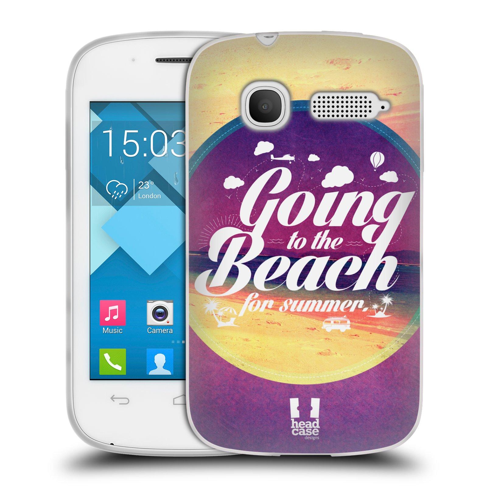 Silikonové pouzdro na mobil Alcatel One Touch Pop C1 HEAD CASE Léto na pláži (Silikonový kryt či obal na mobilní telefon Alcatel OT-4015D POP C1)