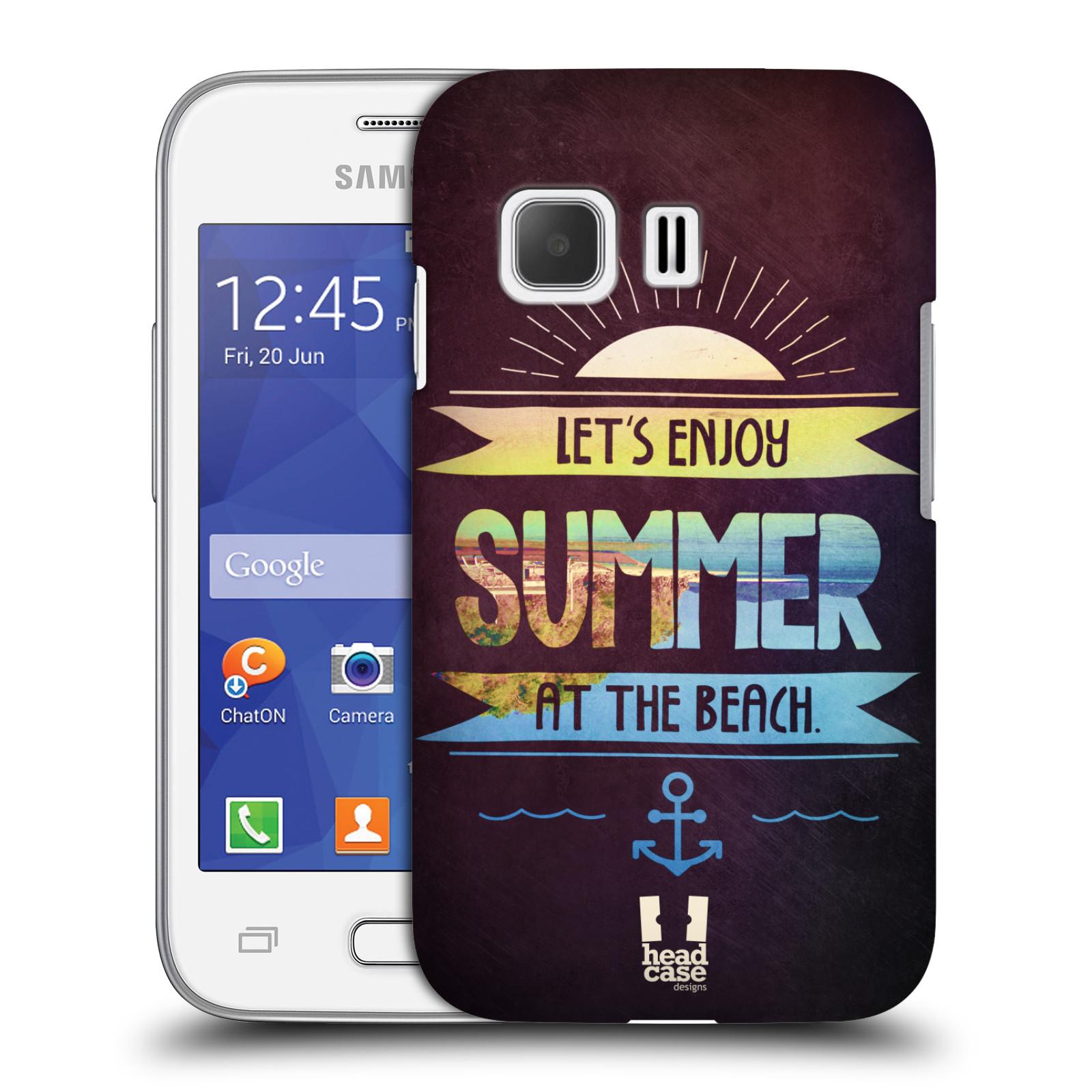 Plastové pouzdro na mobil Samsung Galaxy Young 2 HEAD CASE Užij si léto na pláži (Kryt či obal na mobilní telefon Samsung Galaxy Young 2 SM-G130)