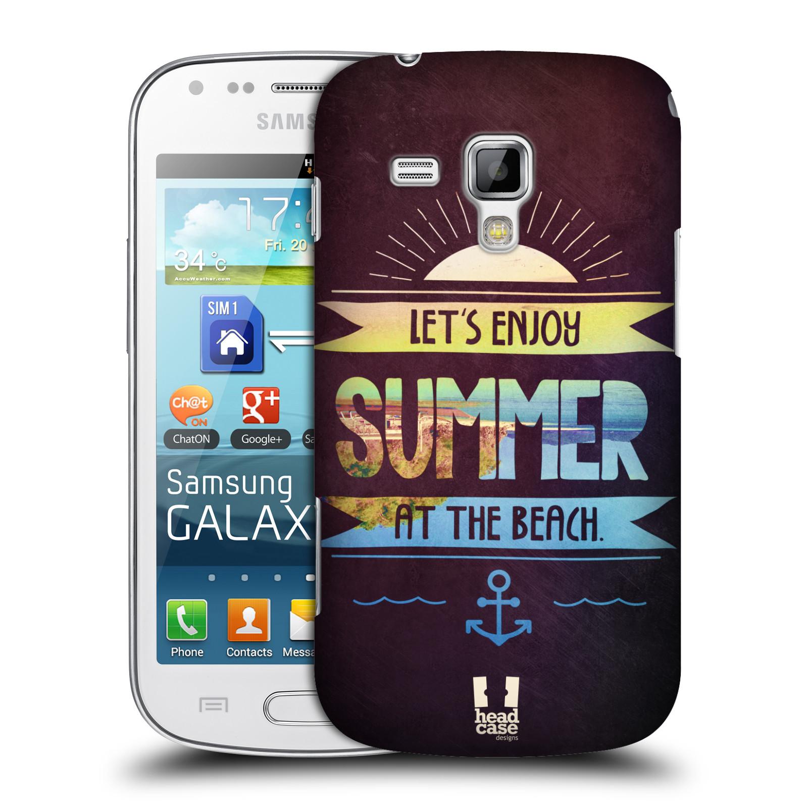 Plastové pouzdro na mobil Samsung Galaxy Trend Plus HEAD CASE Užij si léto na pláži (Kryt či obal na mobilní telefon Samsung Galaxy Trend Plus GT-S7580)