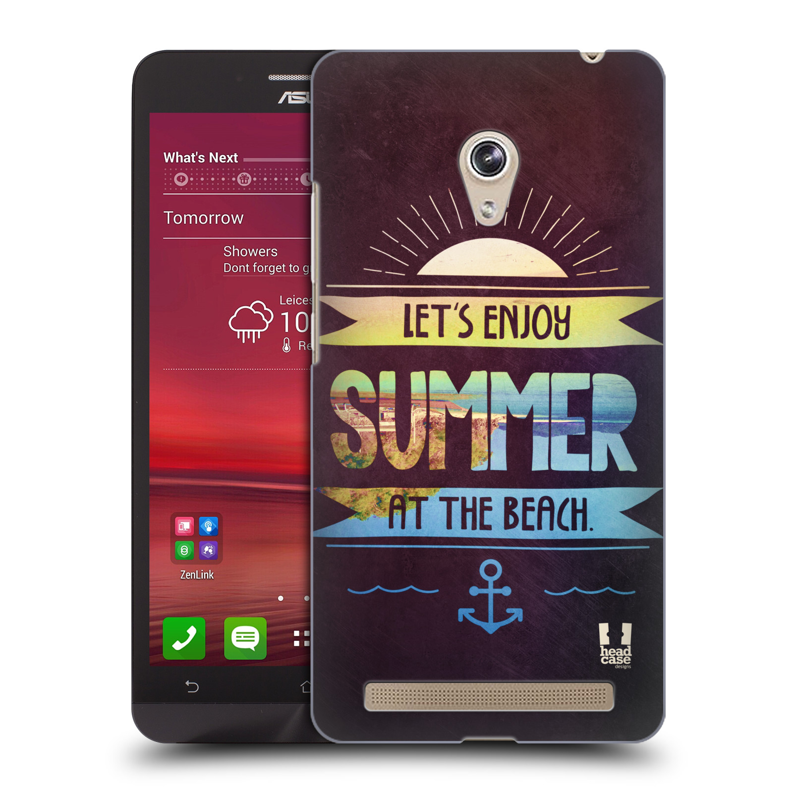 Plastové pouzdro na mobil Asus Zenfone 6 HEAD CASE Užij si léto na pláži (Kryt či obal na mobilní telefon Asus Zenfone 6 A600CG / A601CG)