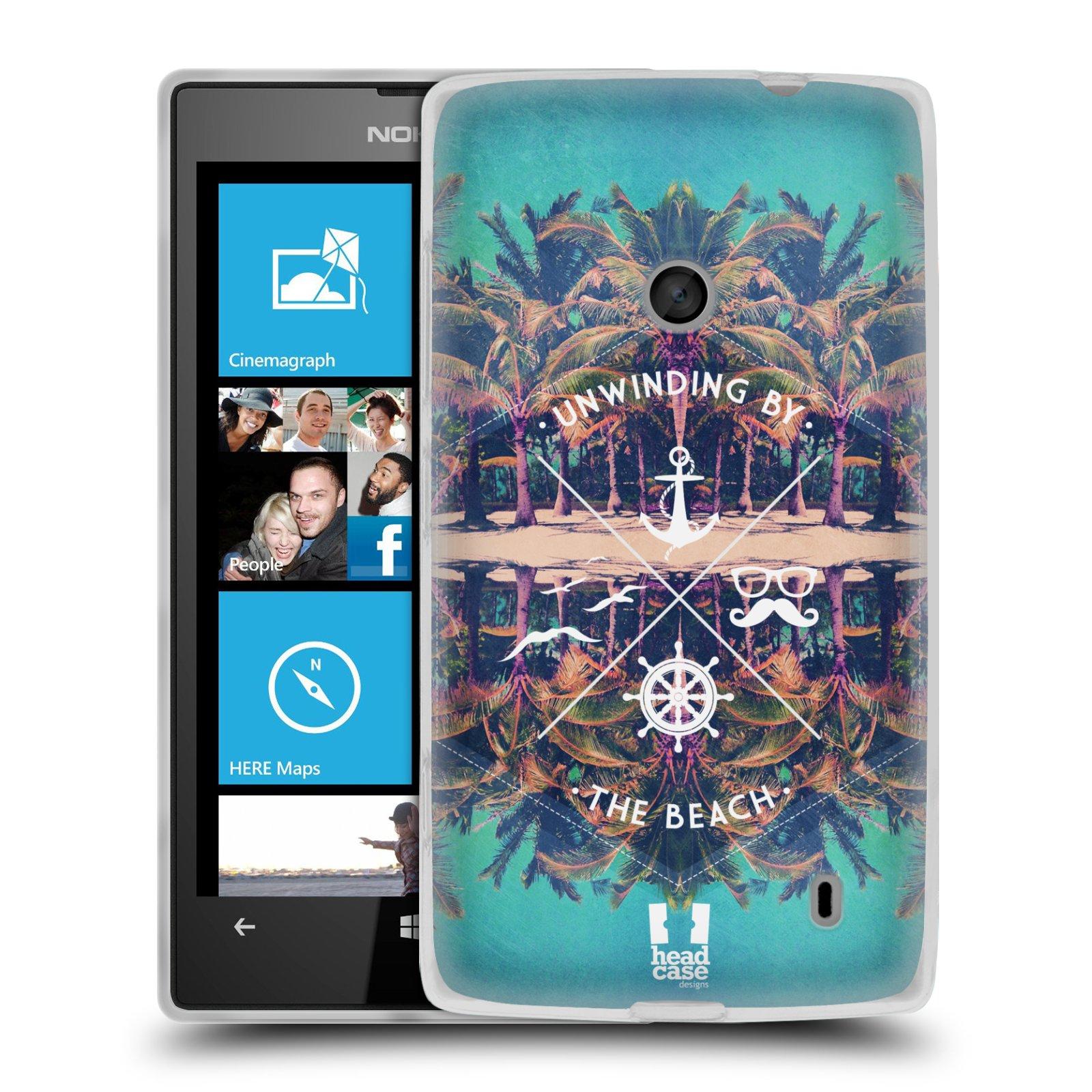 Silikonové pouzdro na mobil Nokia Lumia 520 HEAD CASE Bezvětří (Silikonový Kryt či obal na mobilní telefon Nokia Lumia 520)
