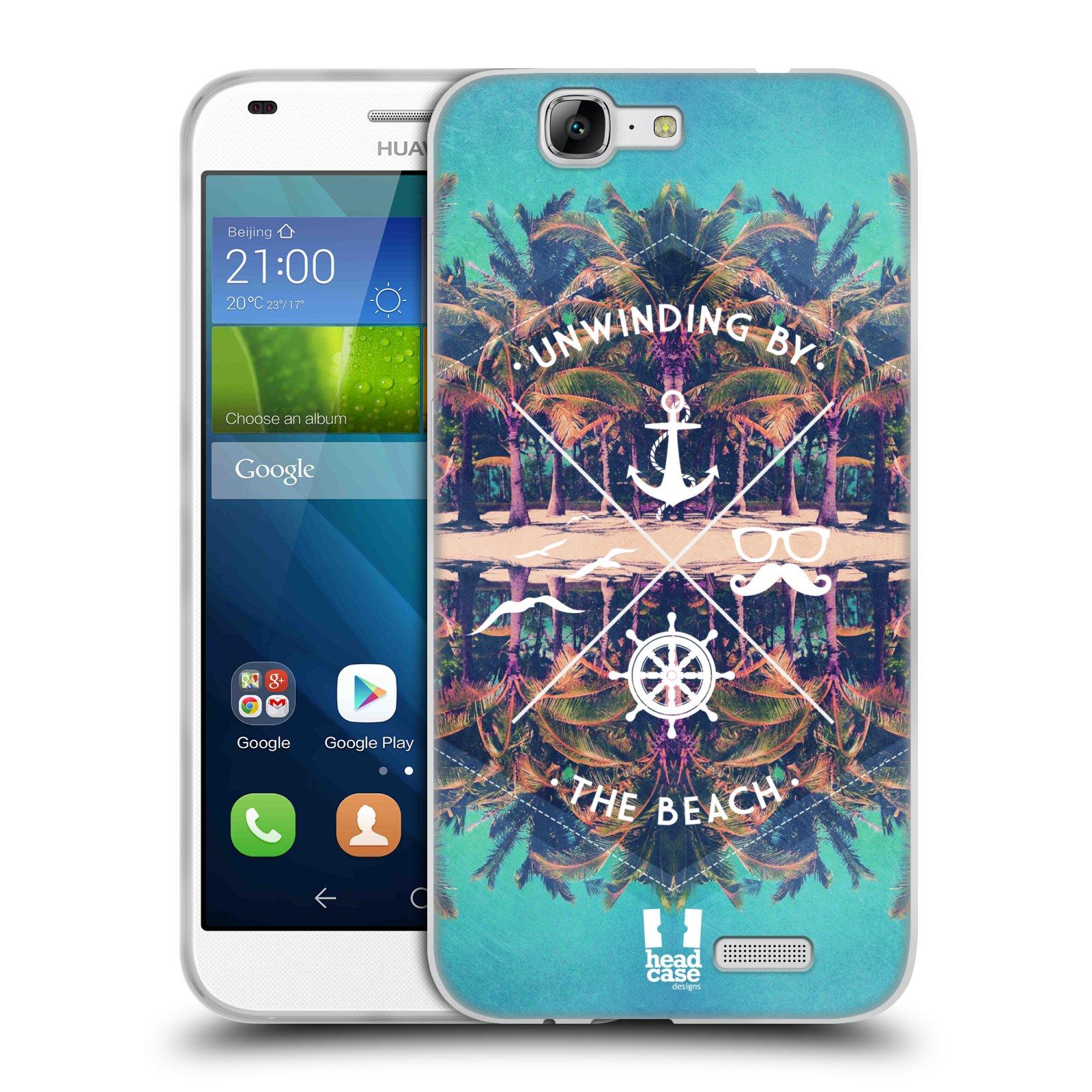 Silikonové pouzdro na mobil Huawei Ascend G7 HEAD CASE Bezvětří (Silikonový kryt či obal na mobilní telefon Huawei Ascend G7)