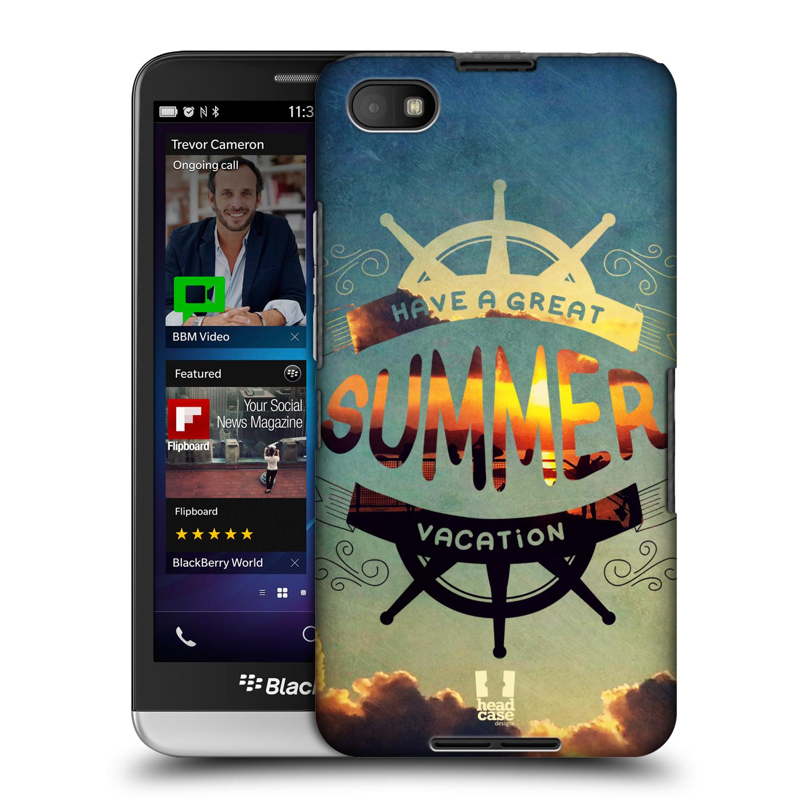 Plastové pouzdro na mobil Blackberry Z30 HEAD CASE Letní prázdniny (Kryt či obal na mobilní telefon Blackberry Z30)
