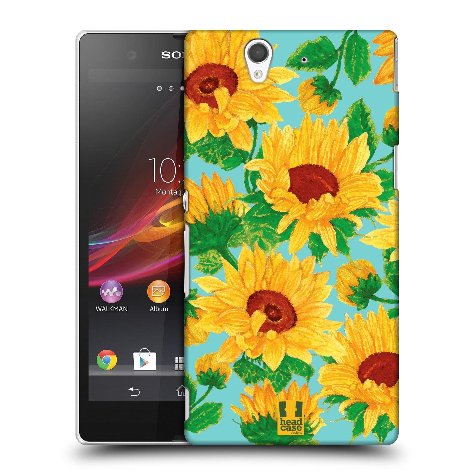 Plastové pouzdro na mobil Sony Xperia Z C6603 HEAD CASE Slunečnice (Kryt či obal na mobilní telefon Sony Xperia Z )