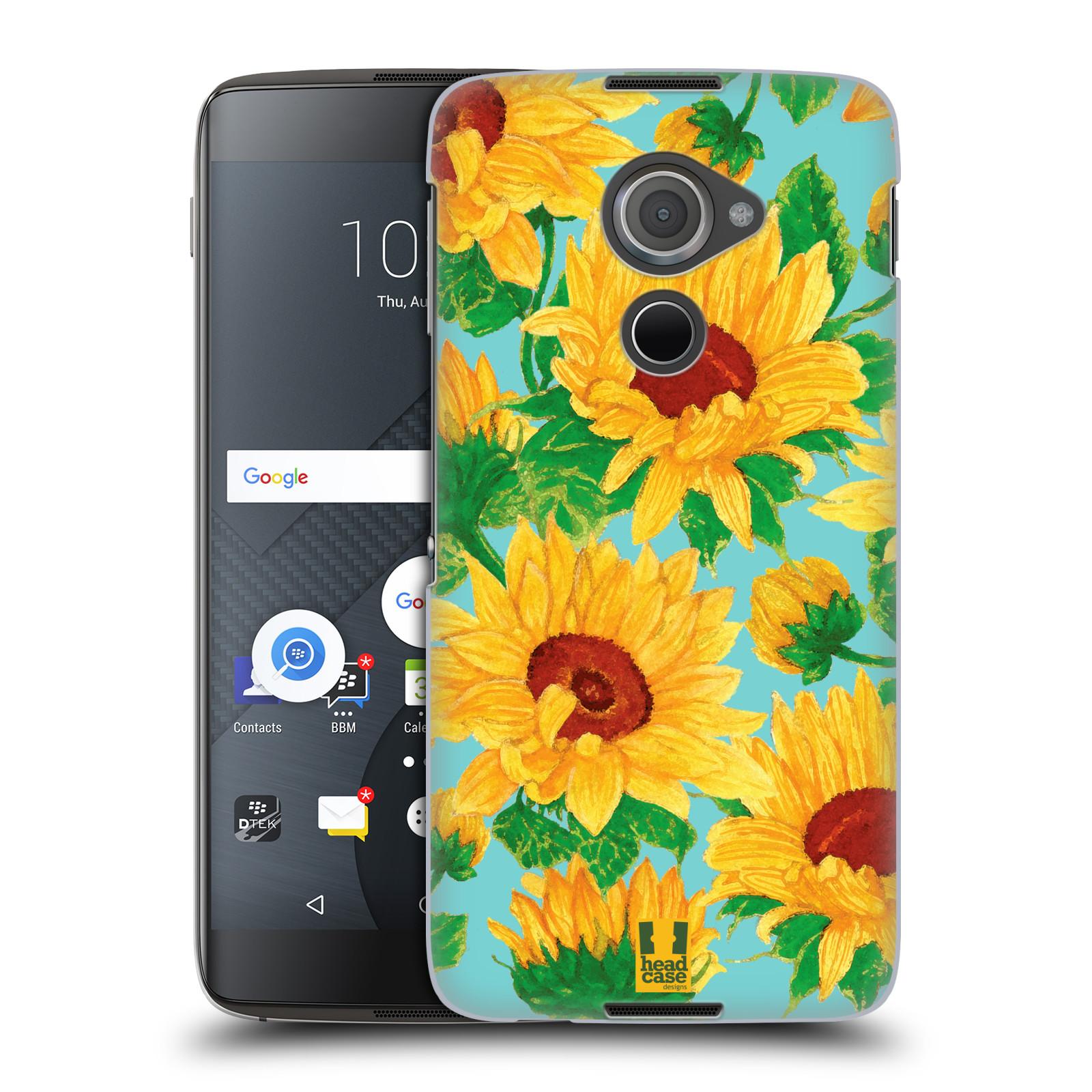 Plastové pouzdro na mobil Blackberry DTEK60 (Argon) - Head Case Slunečnice (Plastový kryt či obal na mobilní telefon Blackberry DTEK60 (Argon))