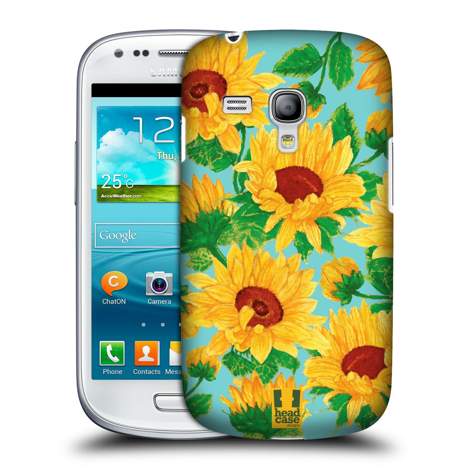 Plastové pouzdro na mobil Samsung Galaxy S3 Mini VE HEAD CASE Slunečnice