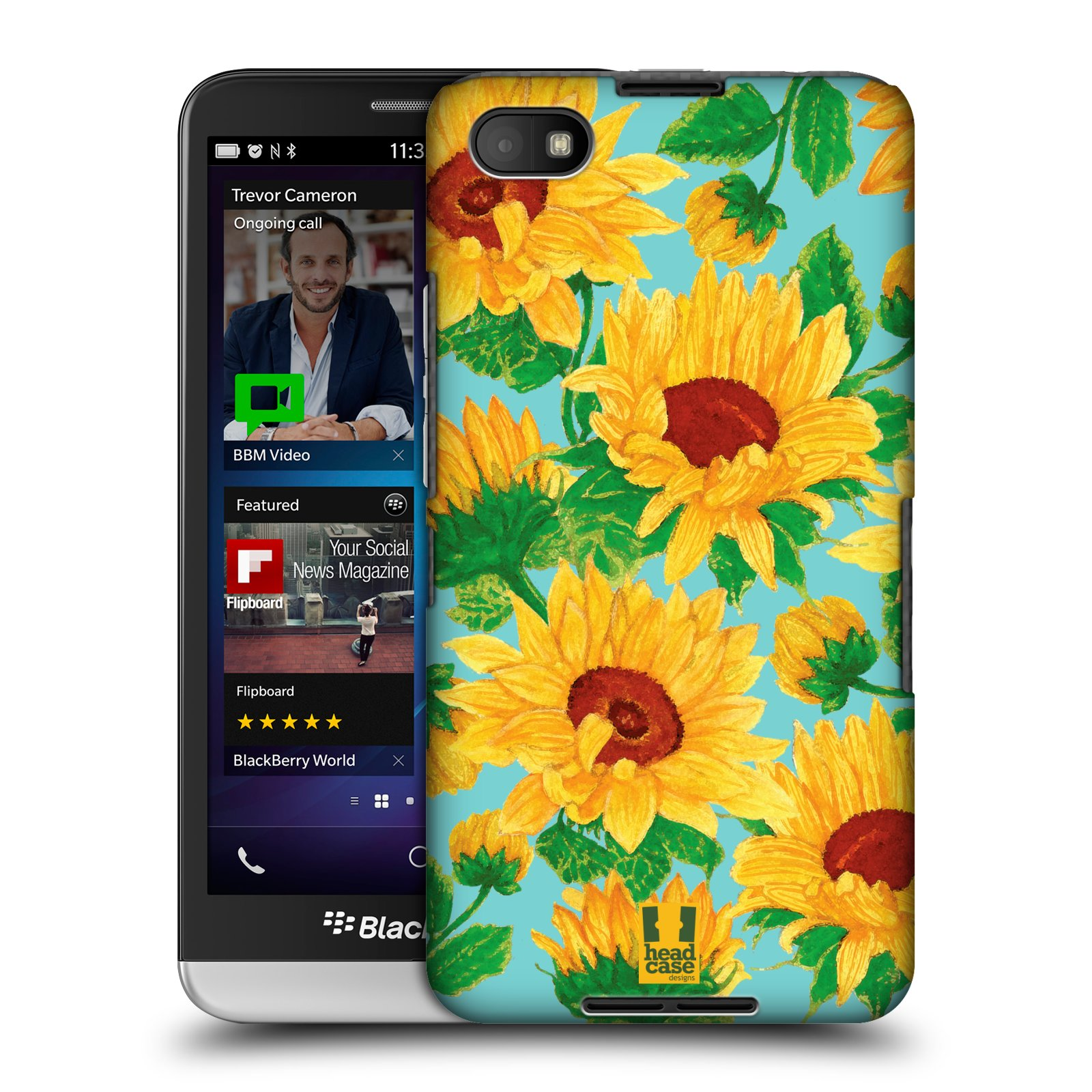 Plastové pouzdro na mobil Blackberry Z30 HEAD CASE Slunečnice (Kryt či obal na mobilní telefon Blackberry Z30)