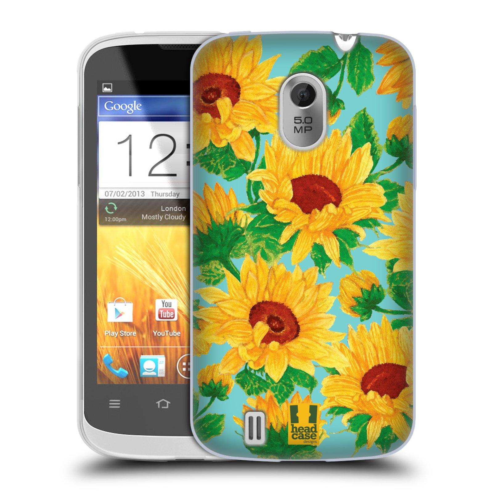 Silikonové pouzdro na mobil ZTE Blade III HEAD CASE Slunečnice (Silikonový kryt či obal na mobilní telefon ZTE Blade 3)