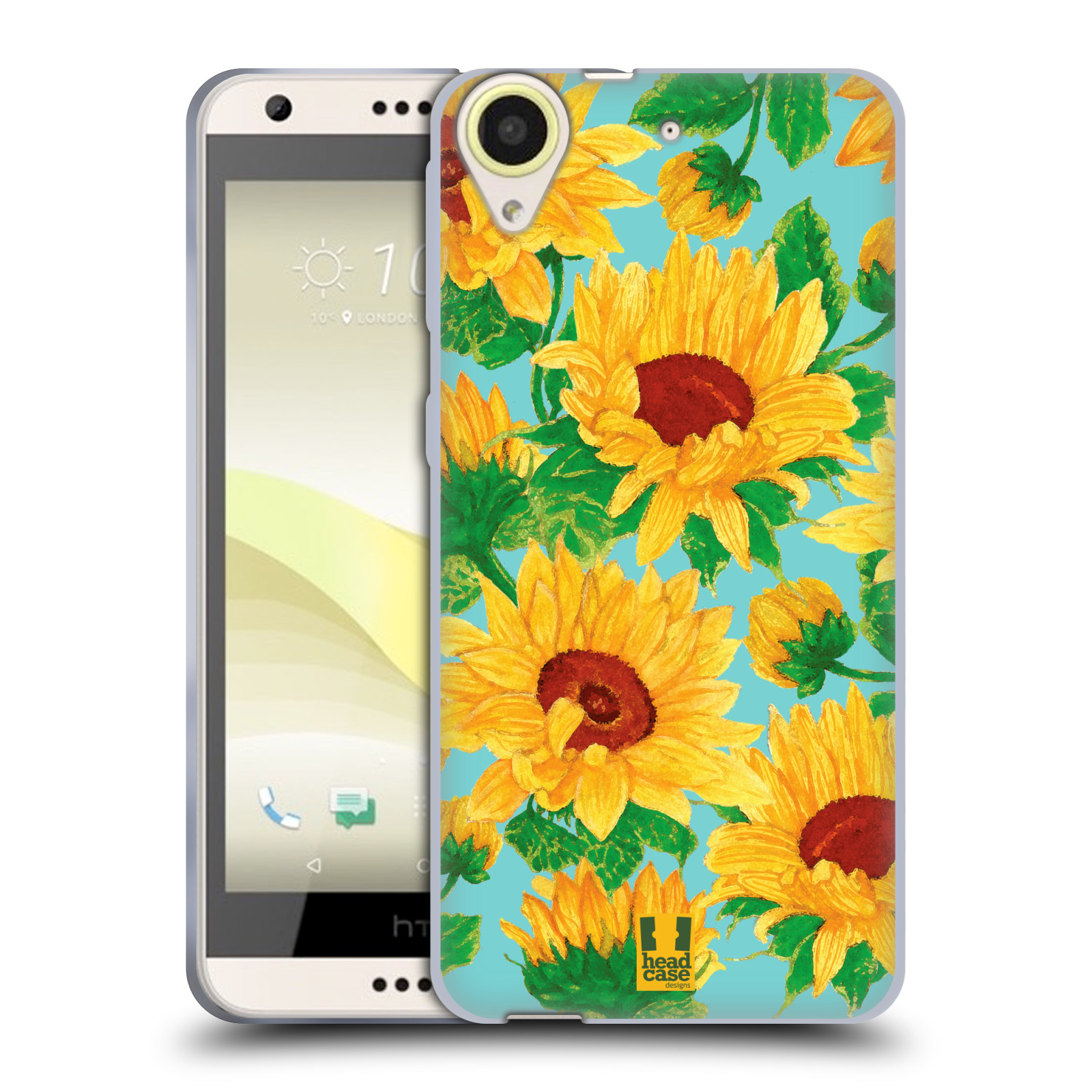 Silikonové pouzdro na mobil HTC Desire 650 HEAD CASE Slunečnice (Silikonový kryt či obal na mobilní telefon HTC Desire 650)