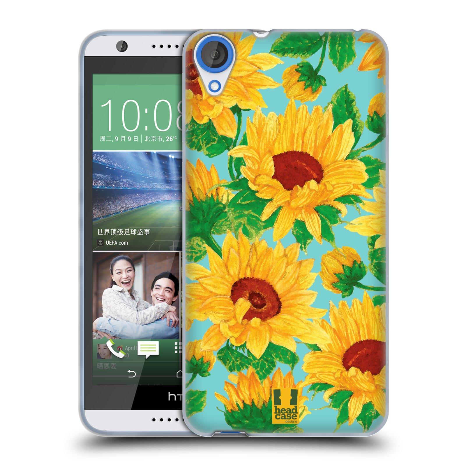 Silikonové pouzdro na mobil HTC Desire 820 HEAD CASE Slunečnice (Silikonový kryt či obal na mobilní telefon HTC Desire 820)