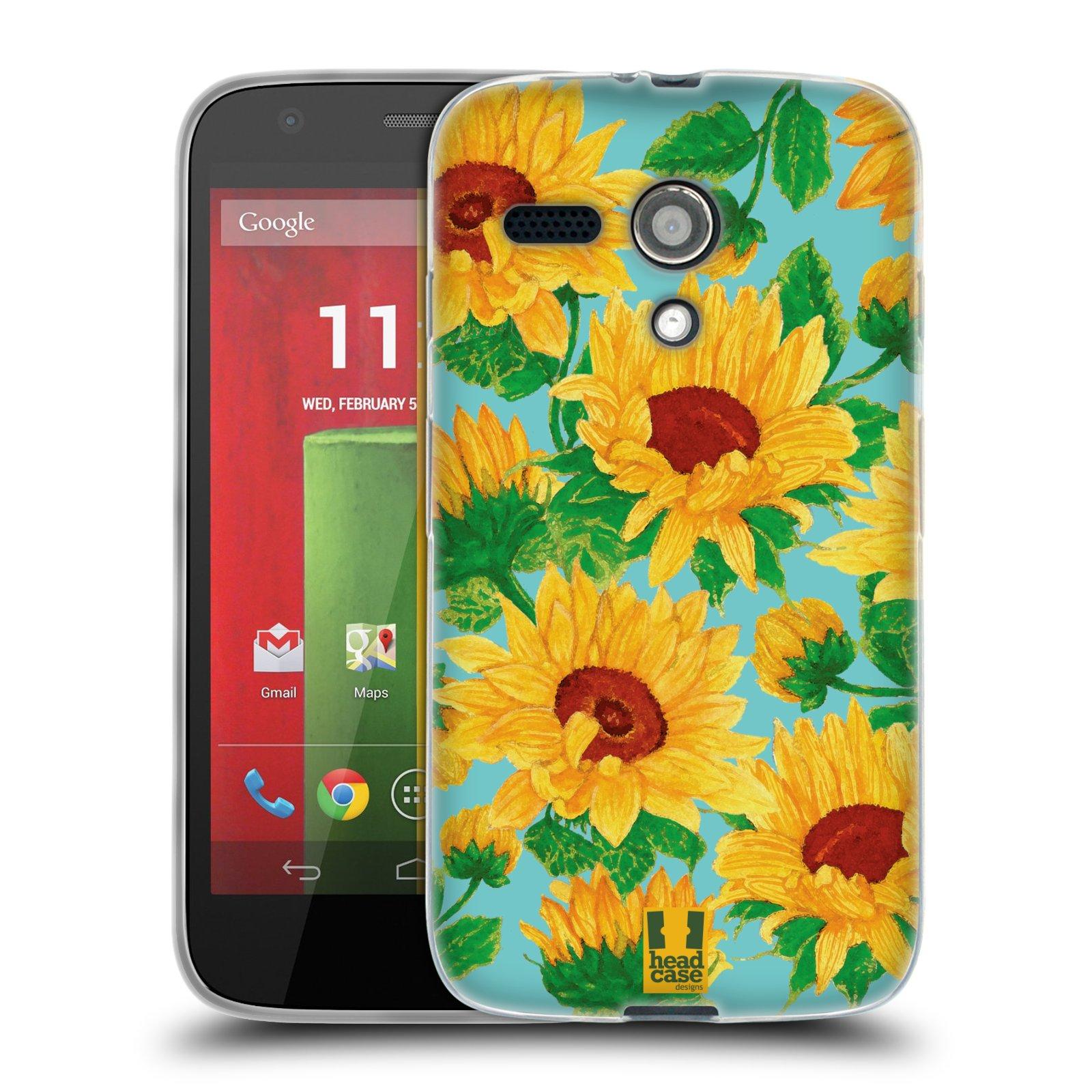 Silikonové pouzdro na mobil Motorola Moto G HEAD CASE Slunečnice (Silikonový kryt či obal na mobilní telefon Motorola Moto G)