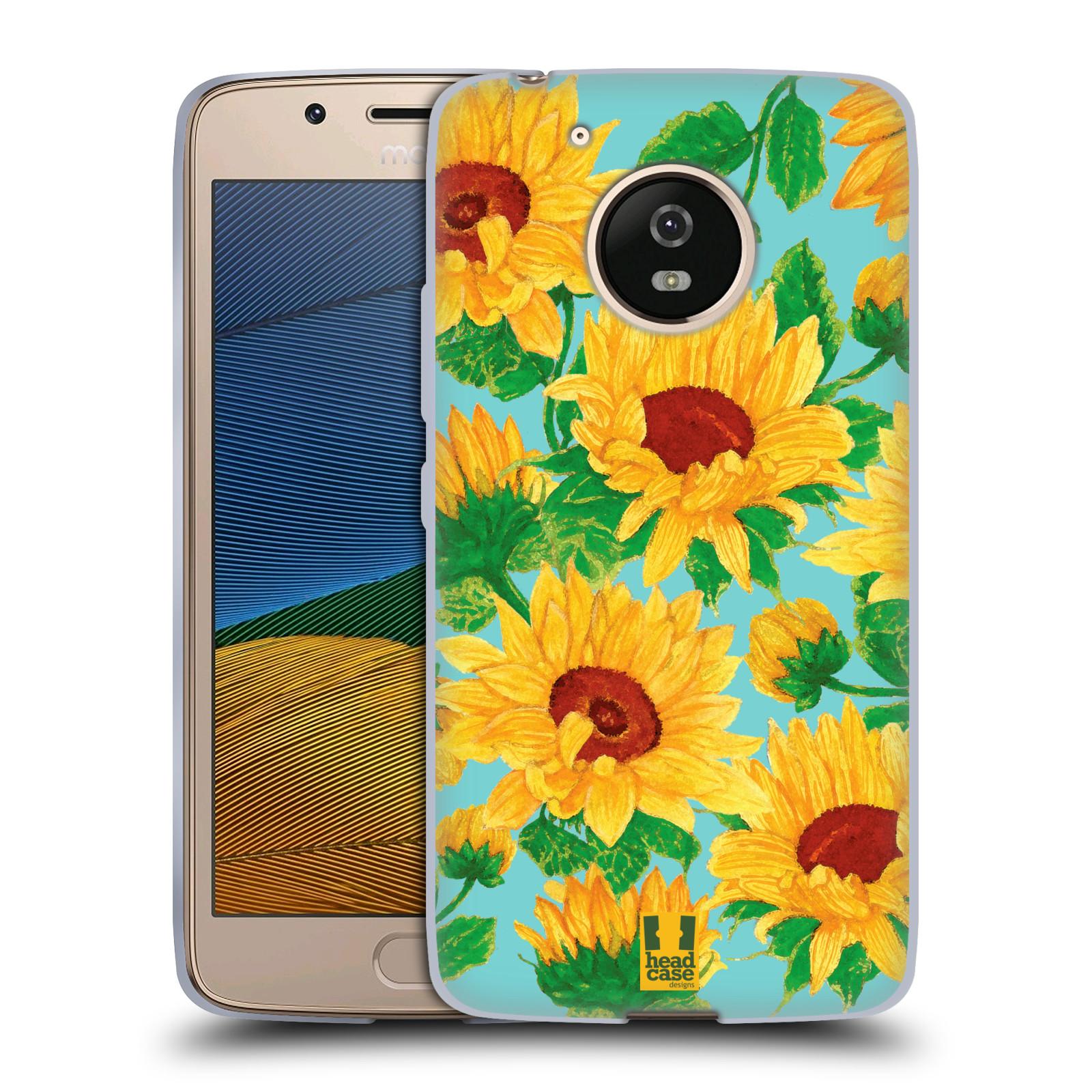 Silikonové pouzdro na mobil Lenovo Moto G5 - Head Case Slunečnice (Silikonový kryt či obal na mobilní telefon Lenovo Moto G5)