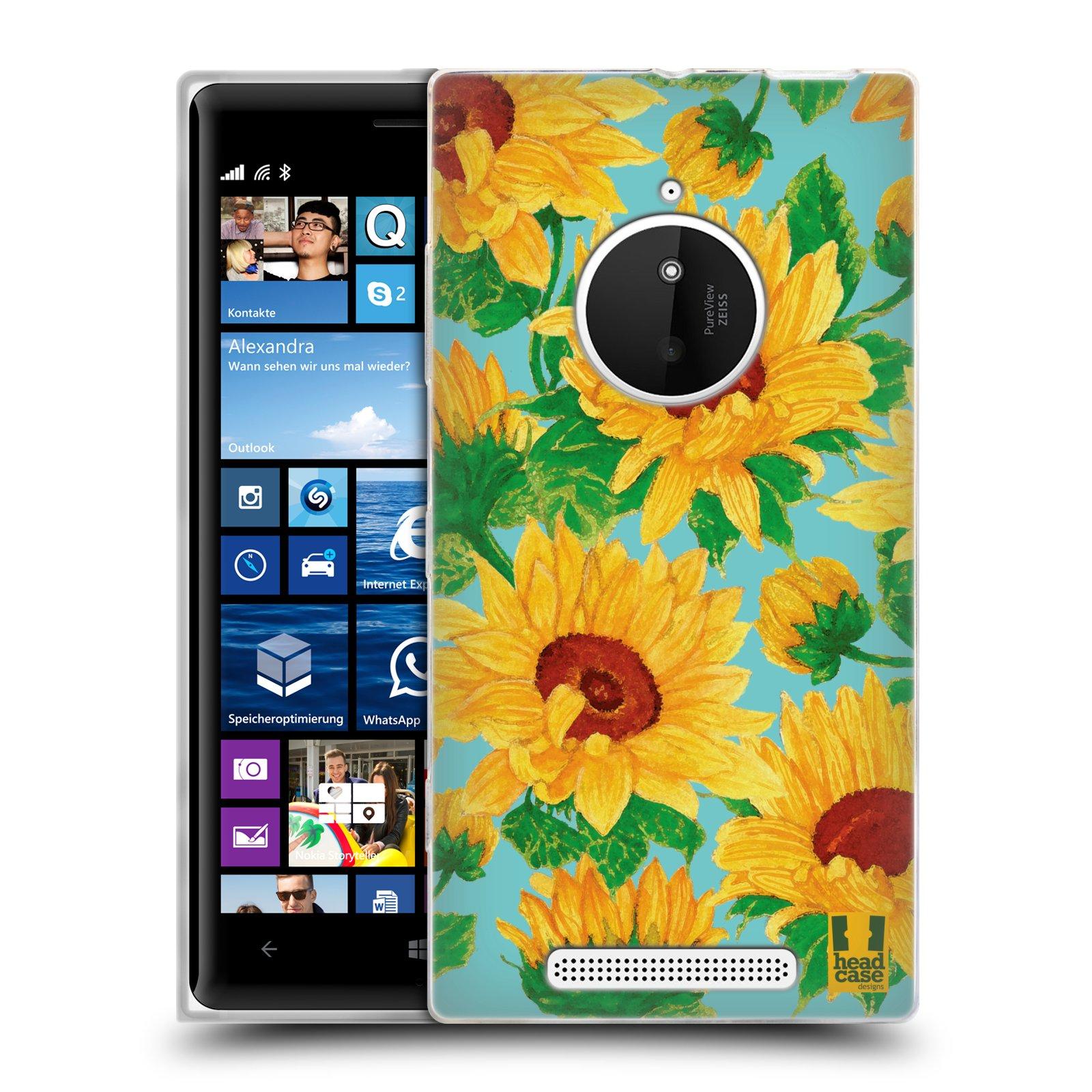 Silikonové pouzdro na mobil Nokia Lumia 830 HEAD CASE Slunečnice (Silikonový kryt či obal na mobilní telefon Nokia Lumia 830)