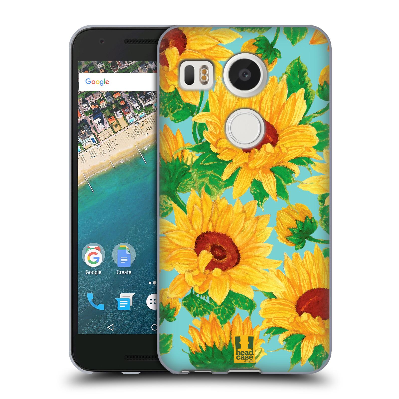 Silikonové pouzdro na mobil LG Nexus 5X - Head Case - Slunečnice (Silikonový kryt či obal na mobilní telefon LG Nexus 5X)