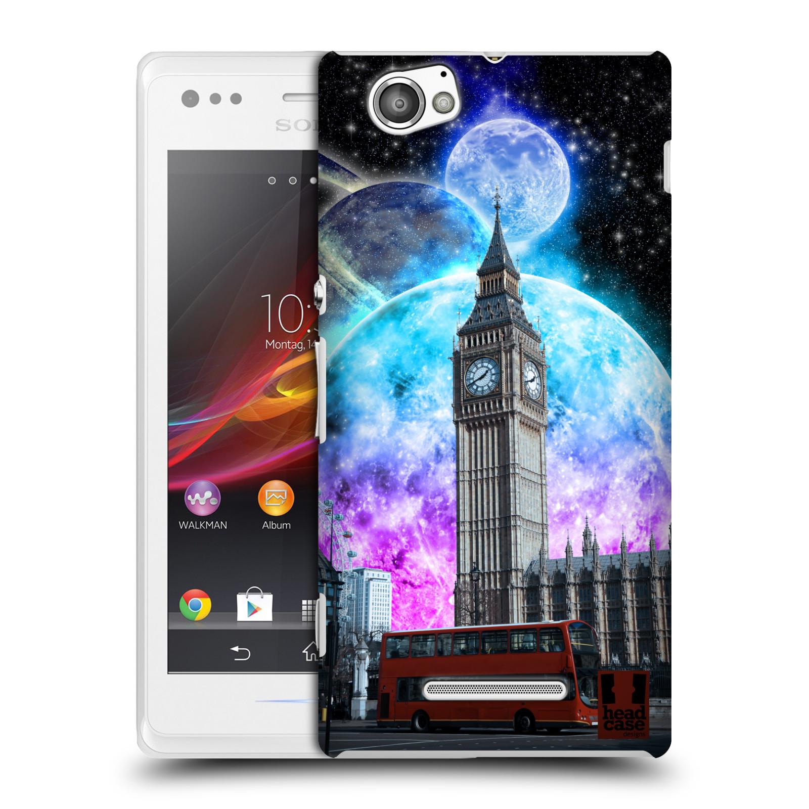 Plastové pouzdro na mobil Sony Xperia M C1905 Head Case - Měsíční Londýn (Plastový kryt či obal na mobilní telefon s motivem Londýna pro Sony Xperia M )
